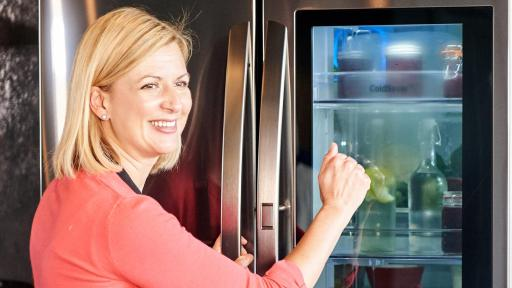 Anna Olson with LG InstaView Door-in-Door® Refrigerator