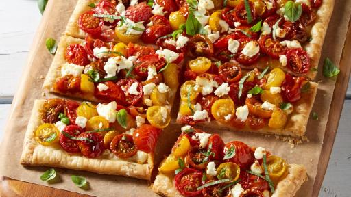 Anna Olson's Tomato Tart with Goat Cheese