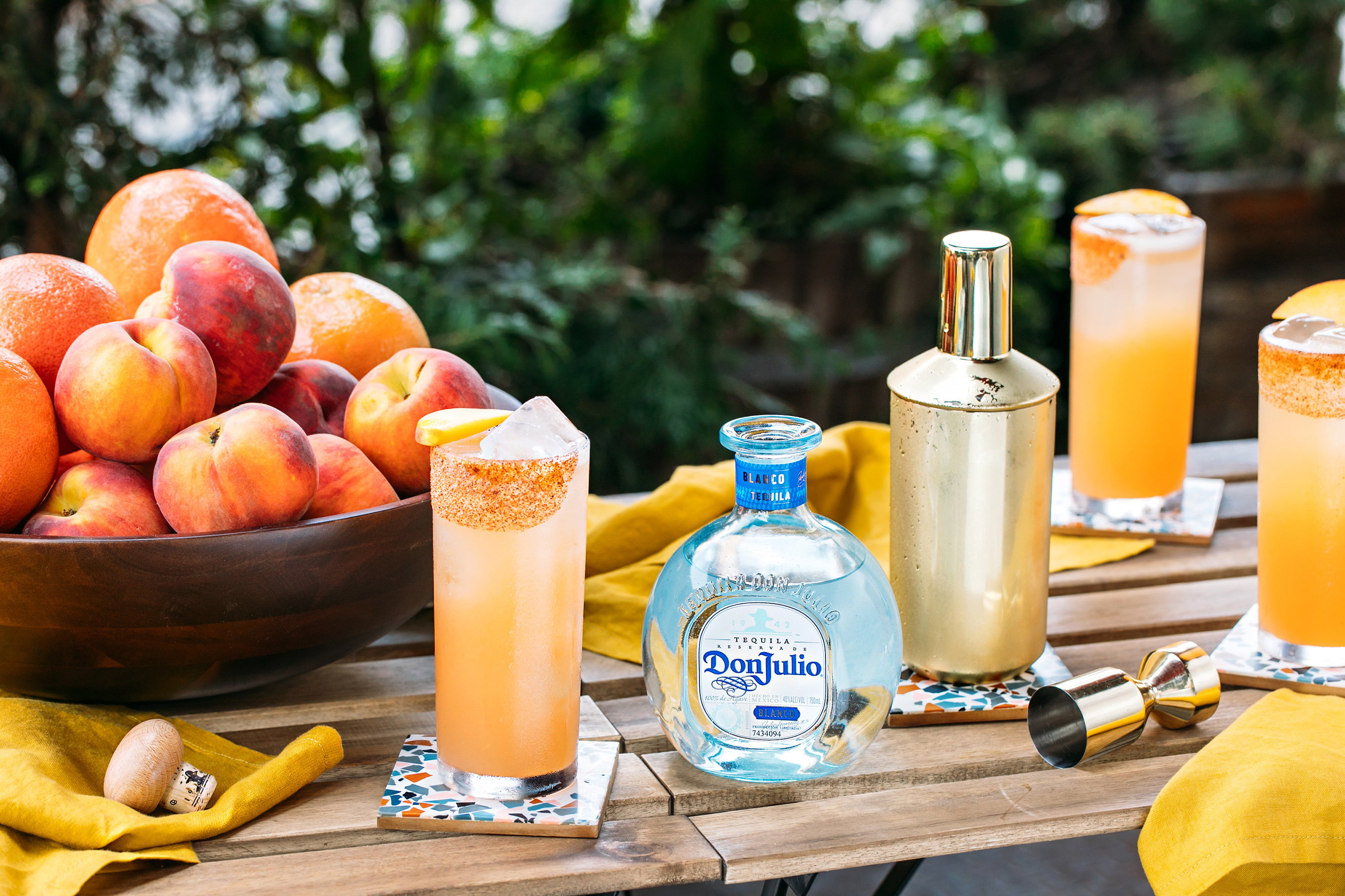 Peachy Paloma Created by Mixologist Makeda Gebre