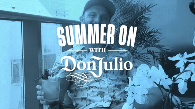 Mixologist Ben Potts Enjoys his #SummerOnWithDon Cocktail from his Balcony in Miami, FL