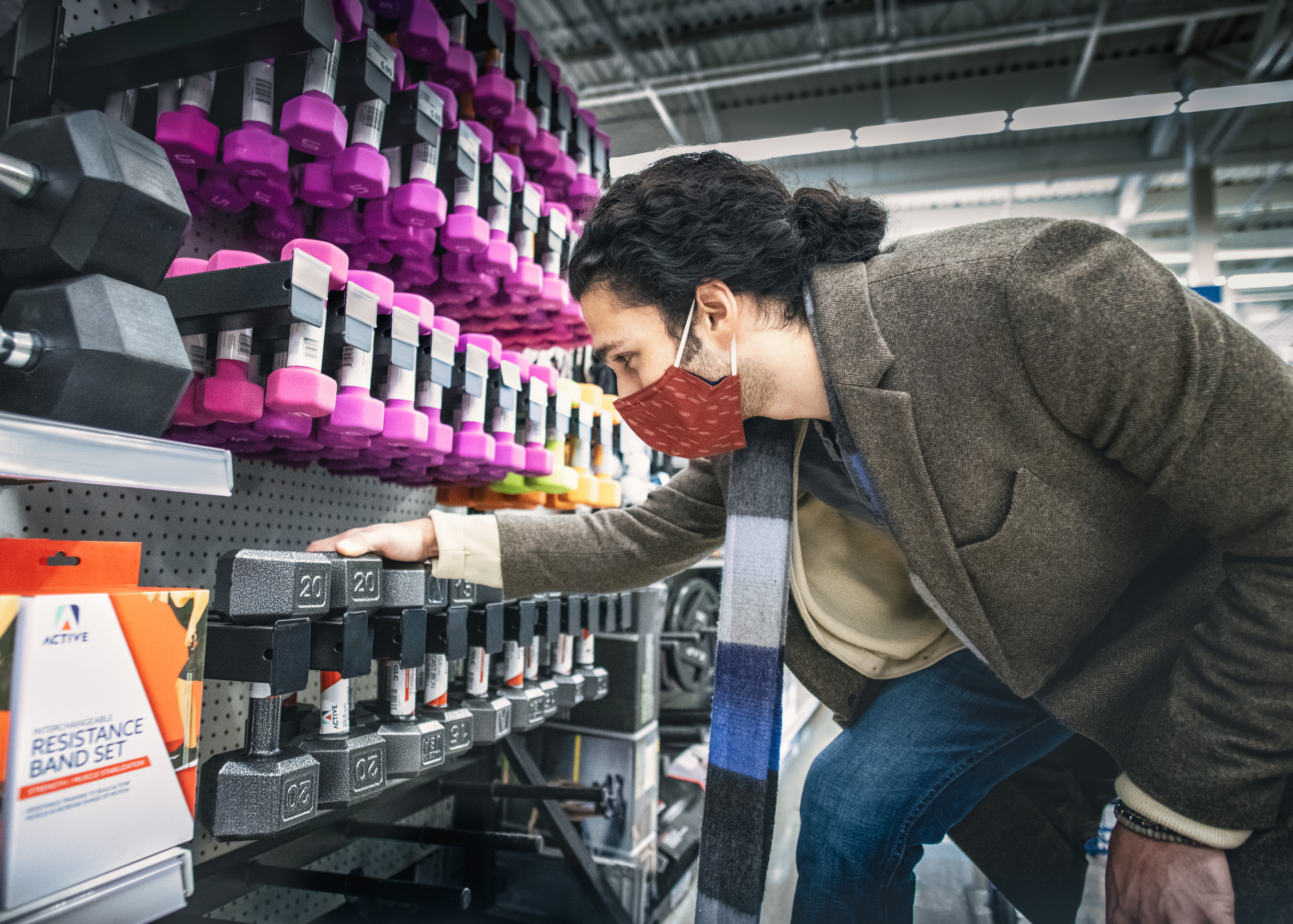 Midwestern retailer Meijer created a Michigan-made solution to bolster supply during the pandemic. By partnering with local businesses, the retailer now offers 10-, 15- , 20- and 25-pound versions to address continuing demand as shoppers add to their home gyms.