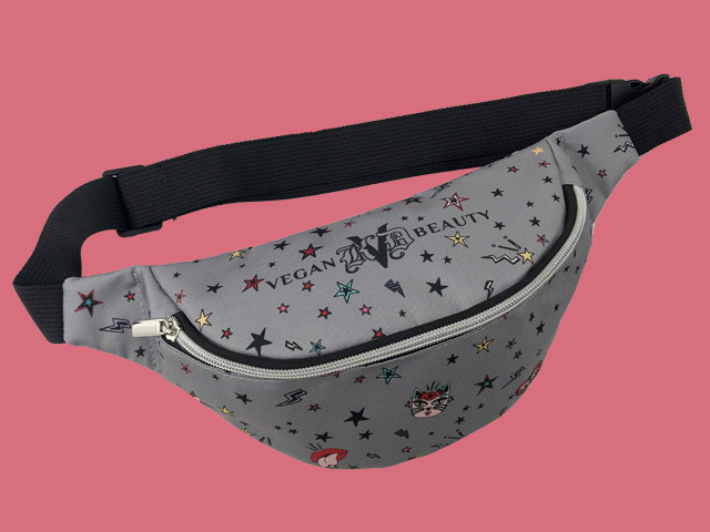 Limited edition, artist-designed fanny pack GWP (by Ana Strumpf) for KVD VB and ulta.com, free with any $50 purchase of KVD VB, while supplies last (see retailer for details)