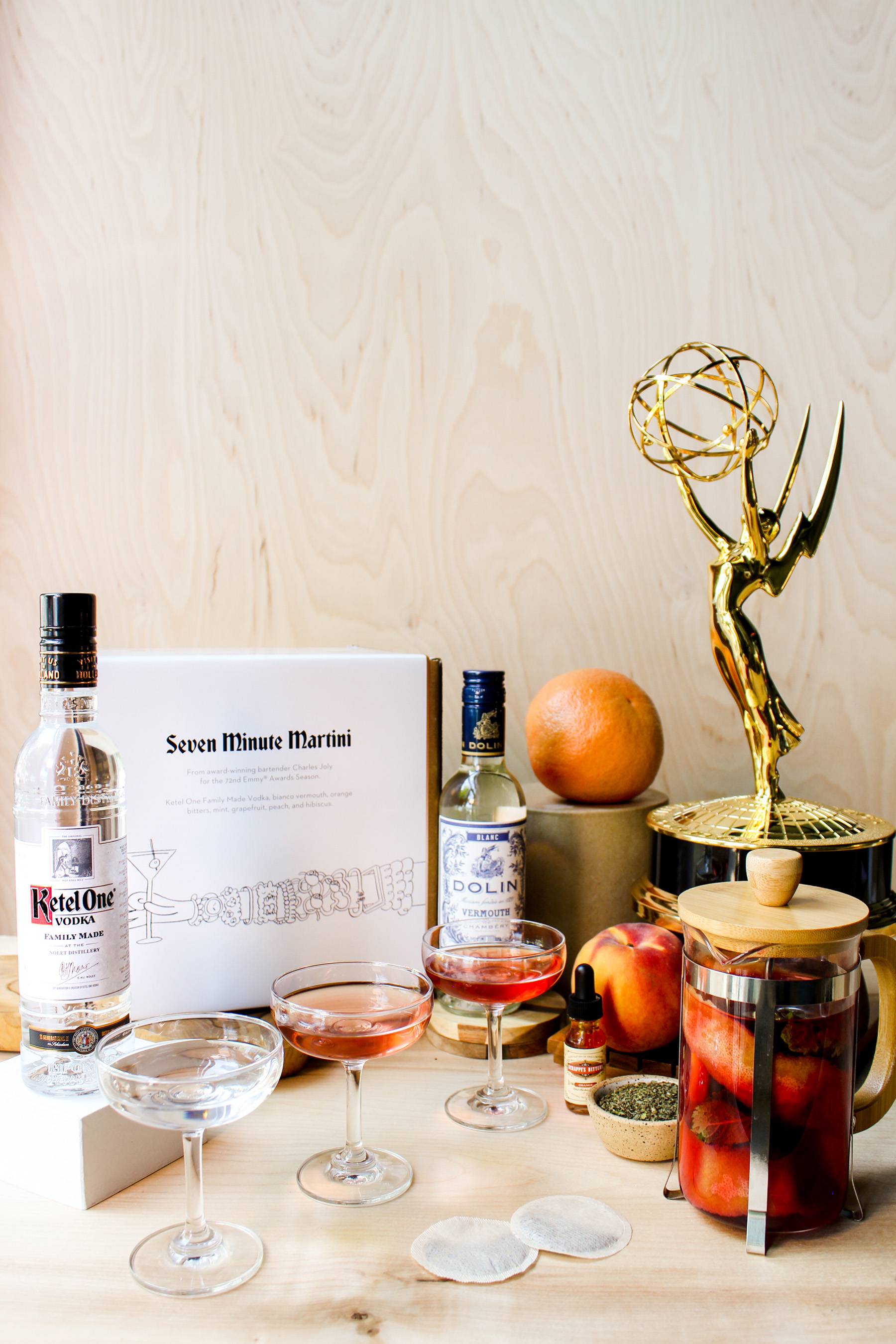 Ketel One Vodka x 72nd Emmy Awards Cocktail Kit