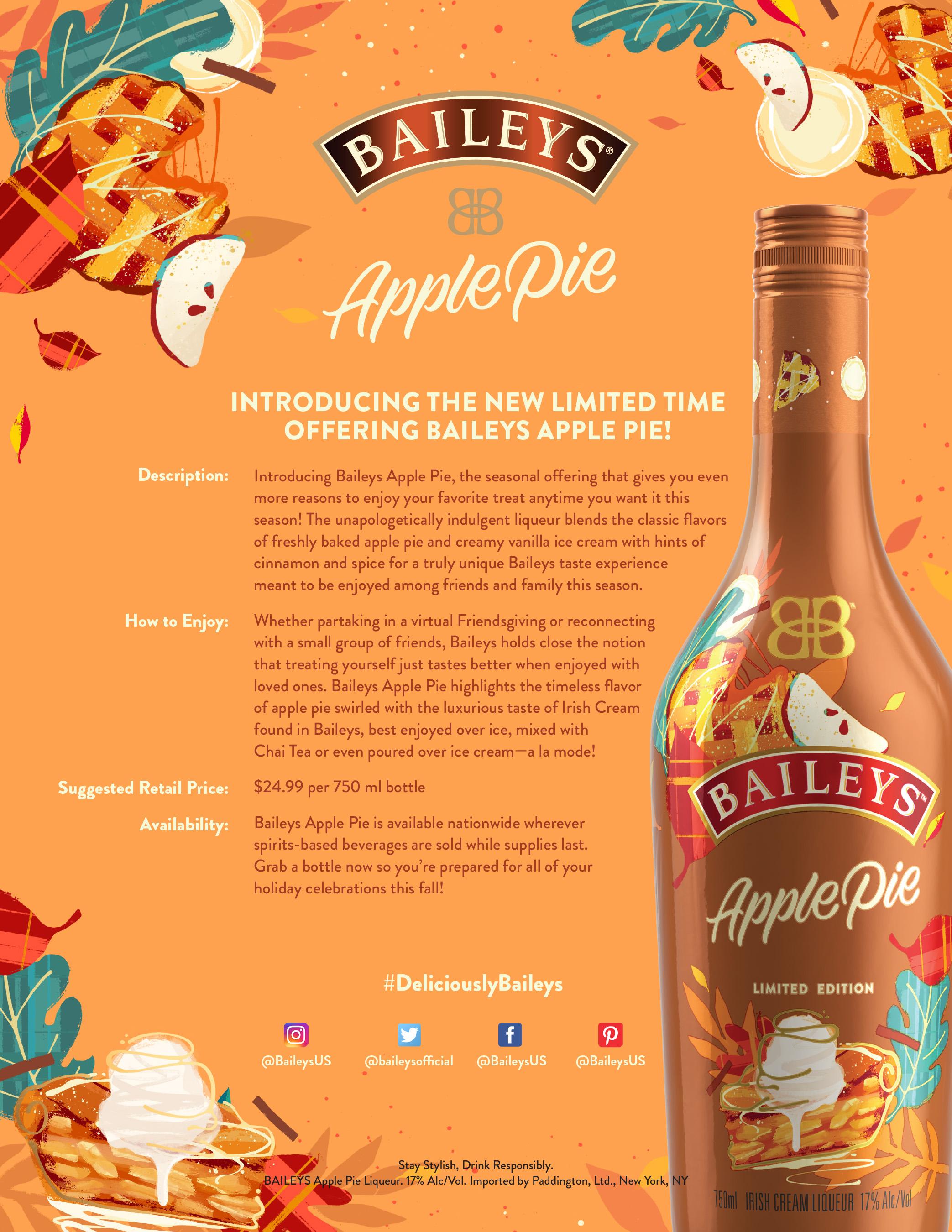 Baileys Apple Pie Fact Sheet