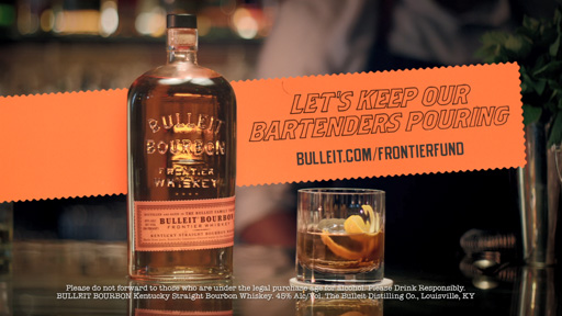 BULLEIT FRONTIER WHISKEY IS HELPING TO KEEP BARTENDERS DOING WHAT THEY DO BEST WITH LAUNCH OF BULLEIT FRONTIER FUND