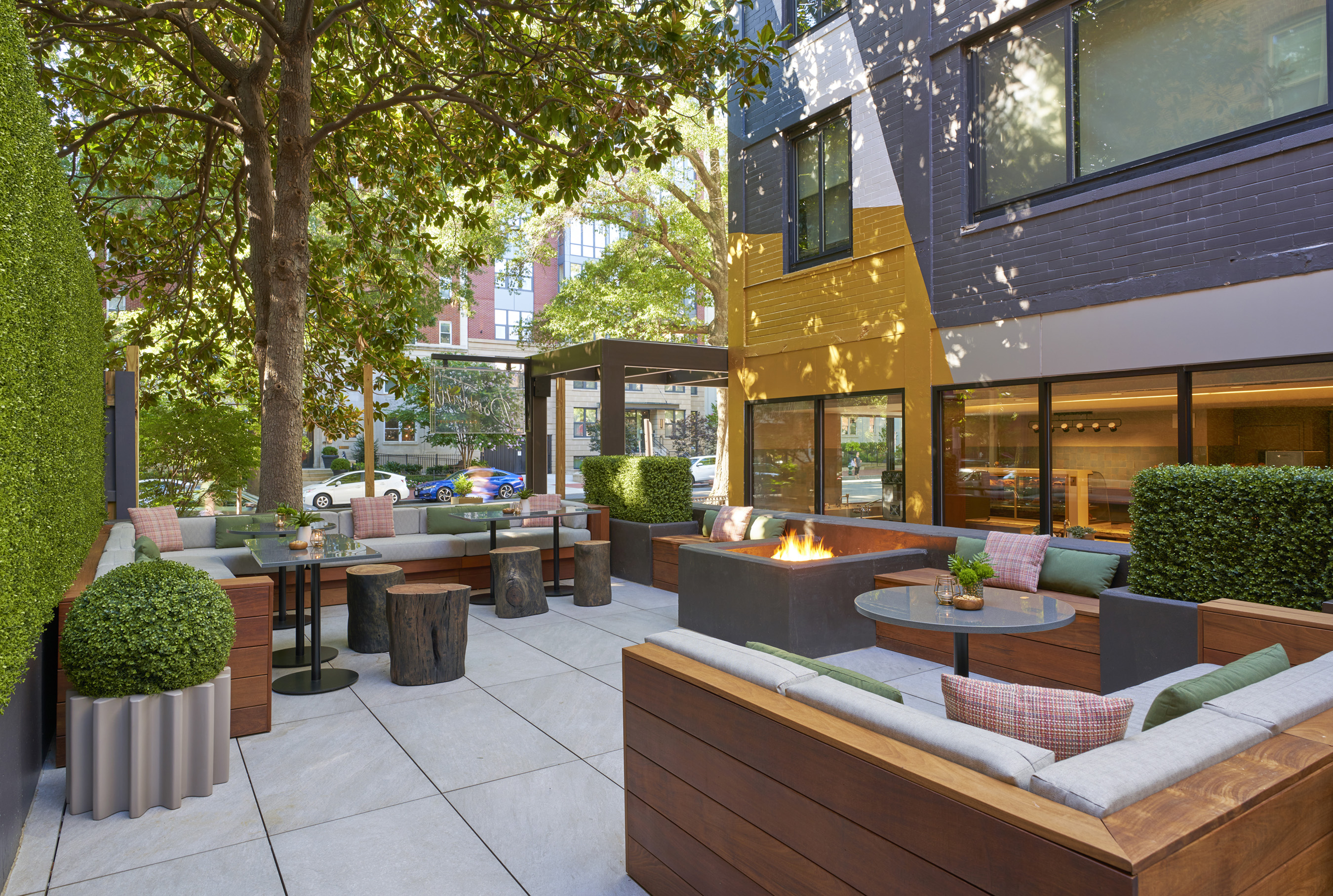 BPM Coffee & Wine offers an expansive, year-round patio. Photo Credit: Mike Schwartz Photography