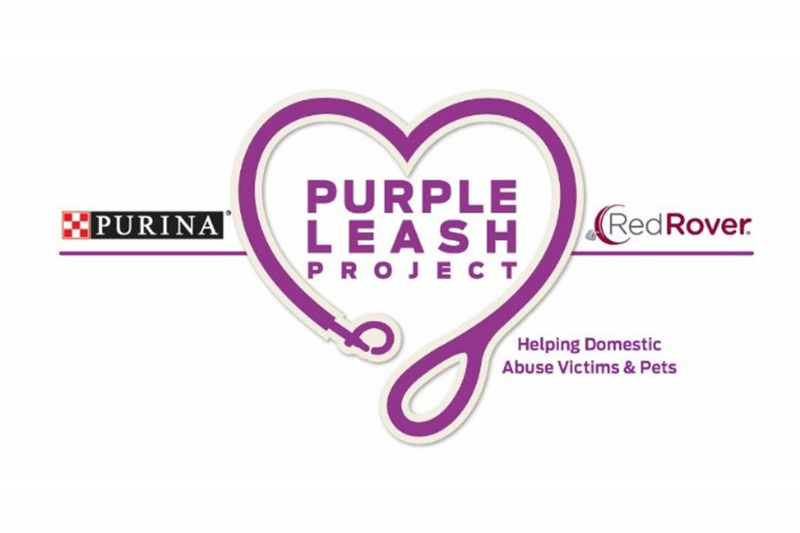 Purina is asking you to 'take the lead' for domestic violence survivors by snapping a picture with your pet and sharing it on social media using the hashtag #PurpleLeashProject or making a donation to the Purple Leash Project.