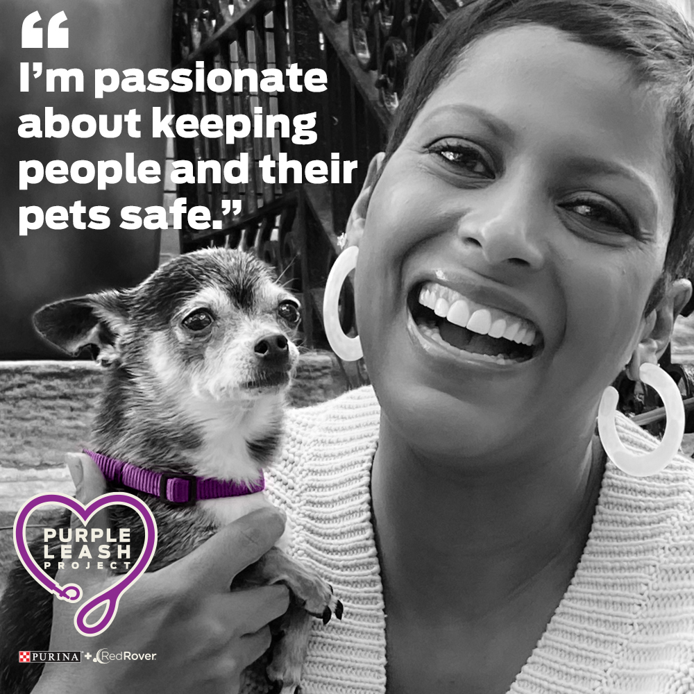 Tamron Hall, journalist and dog mom to May Luv, has a personal connection to domestic violence and is partnering with Purina and RedRover to raise awareness about the lack of pet-friendly shelters in the U.S.
