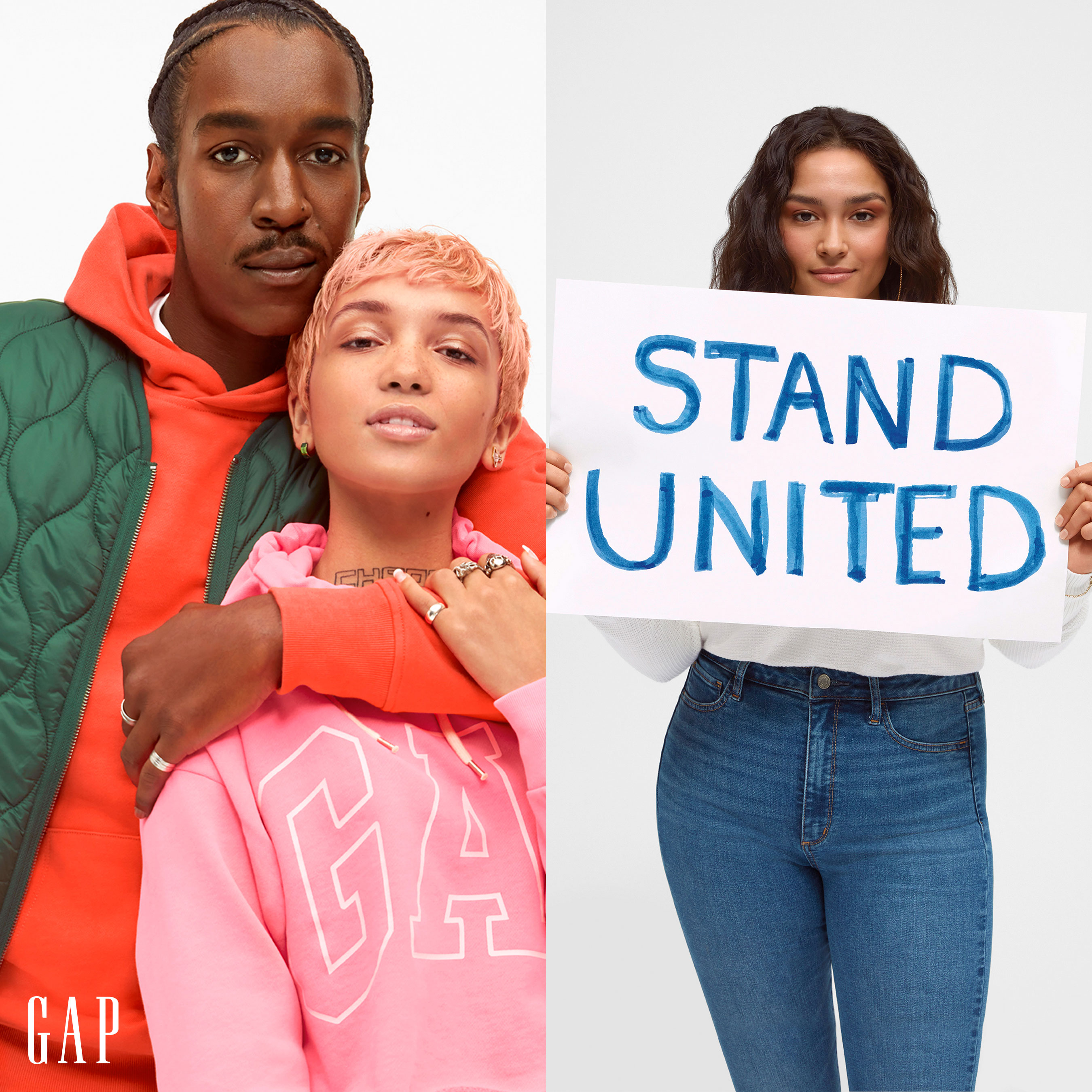 Maury Watson, Tani Gunn, and Karina Perez for Gap's STAND UNITED campaign
