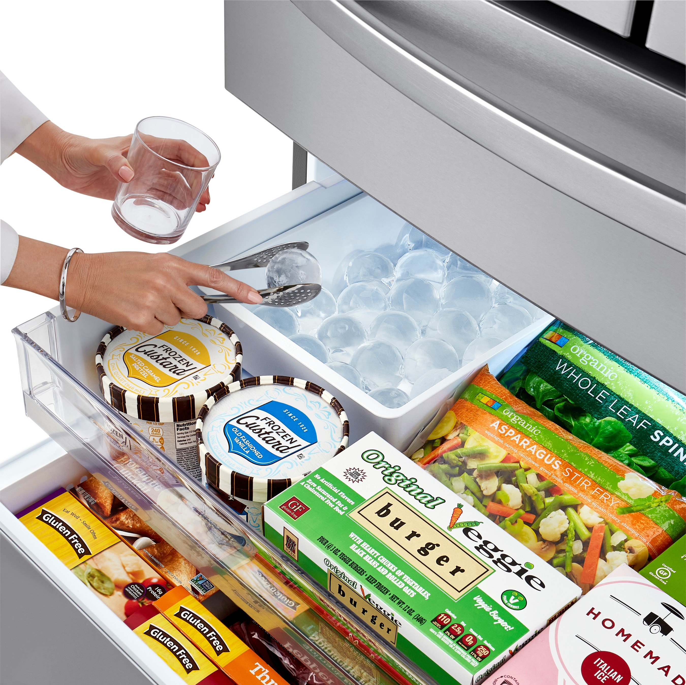 2020 LG smart refrigerators with Craft Ice have been upgraded to include the option to double the Craft Ice output - from three to six ice spheres - in the same amount of time.