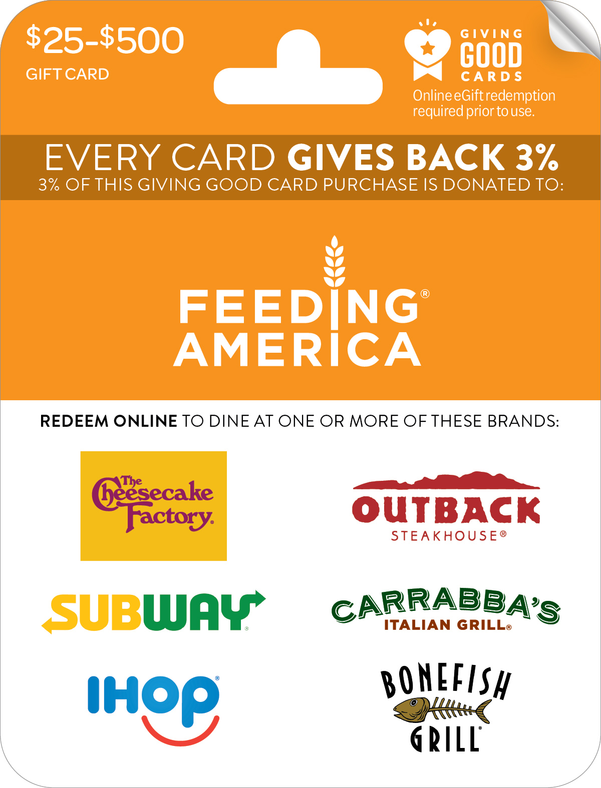 Feeding America® Giving Good™ Card
