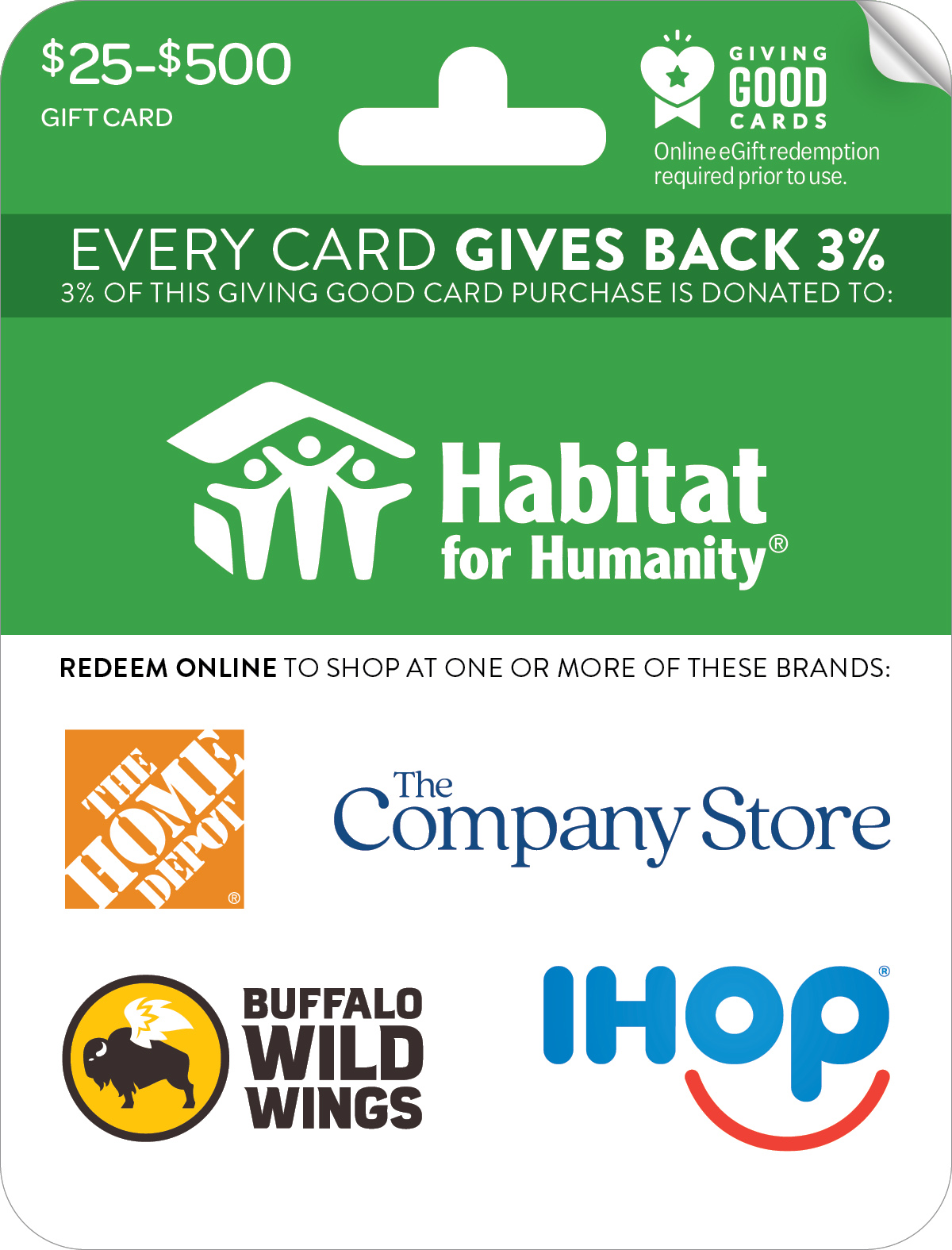 Habitat for Humanity Giving Good™ Card