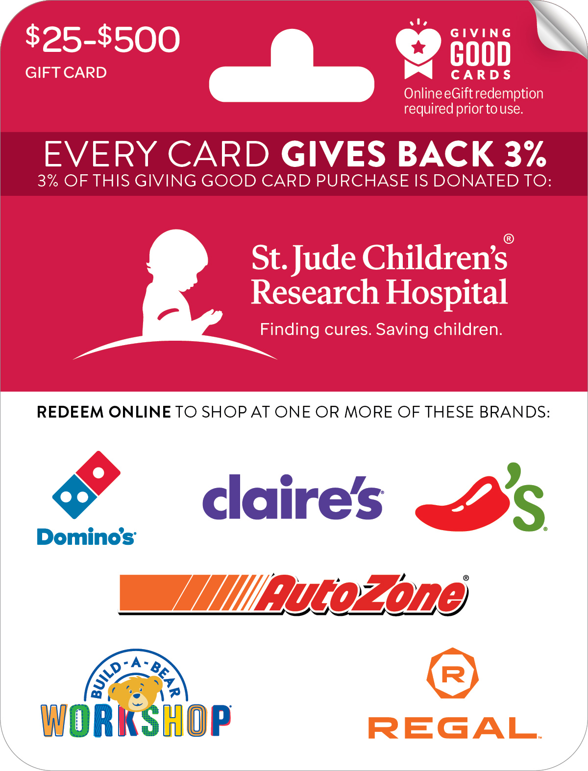 St. Jude Children's Research Hospital® Giving Good™ Card