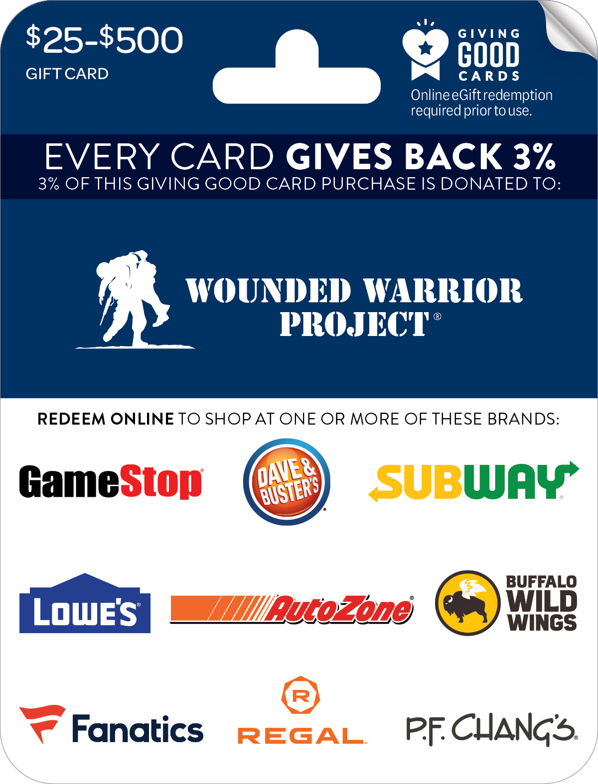 Wounded Warrior Project® Giving Good™ Card
