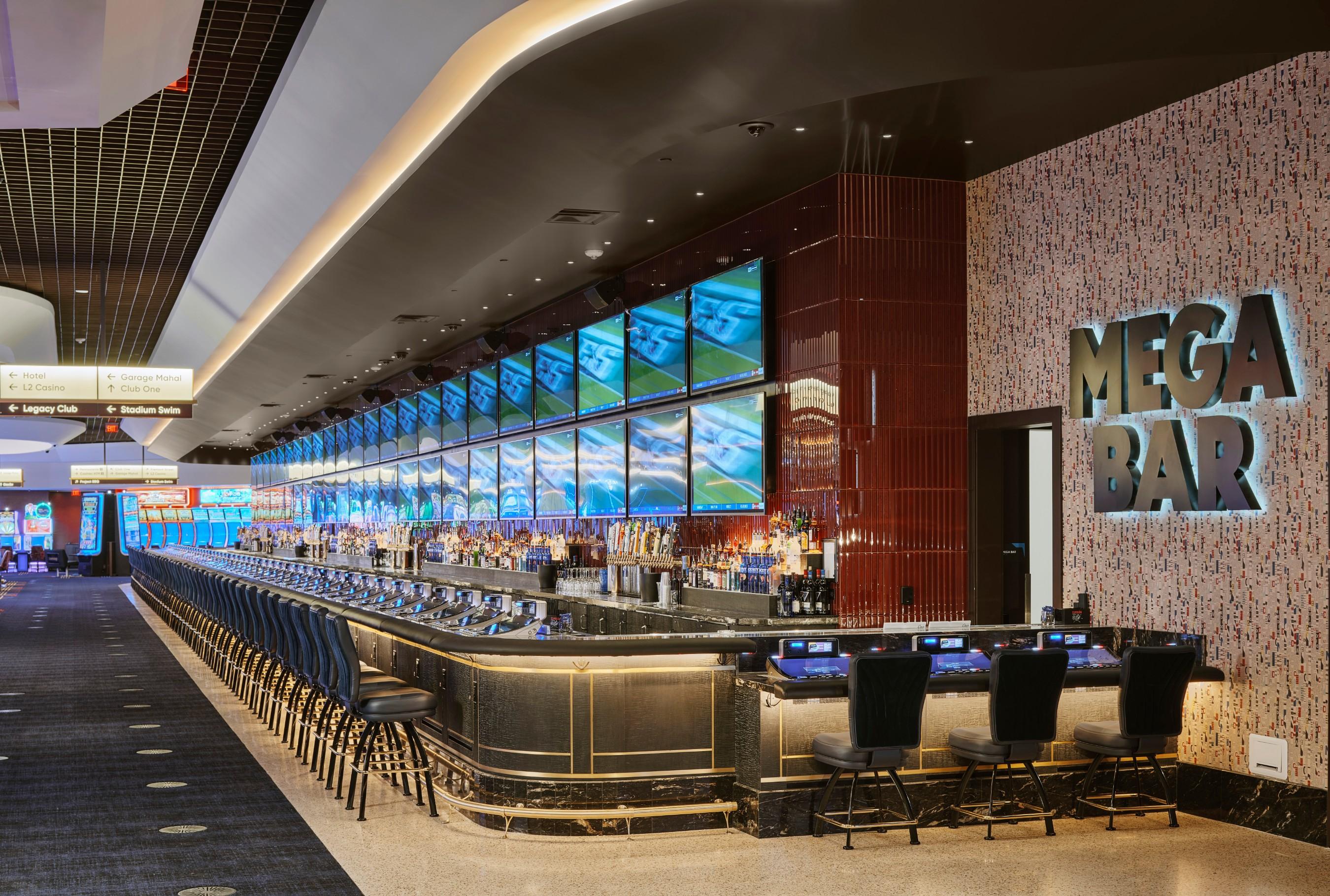 MEGA Bar is Nevada's longest indoor bar, spanning 165 feet.