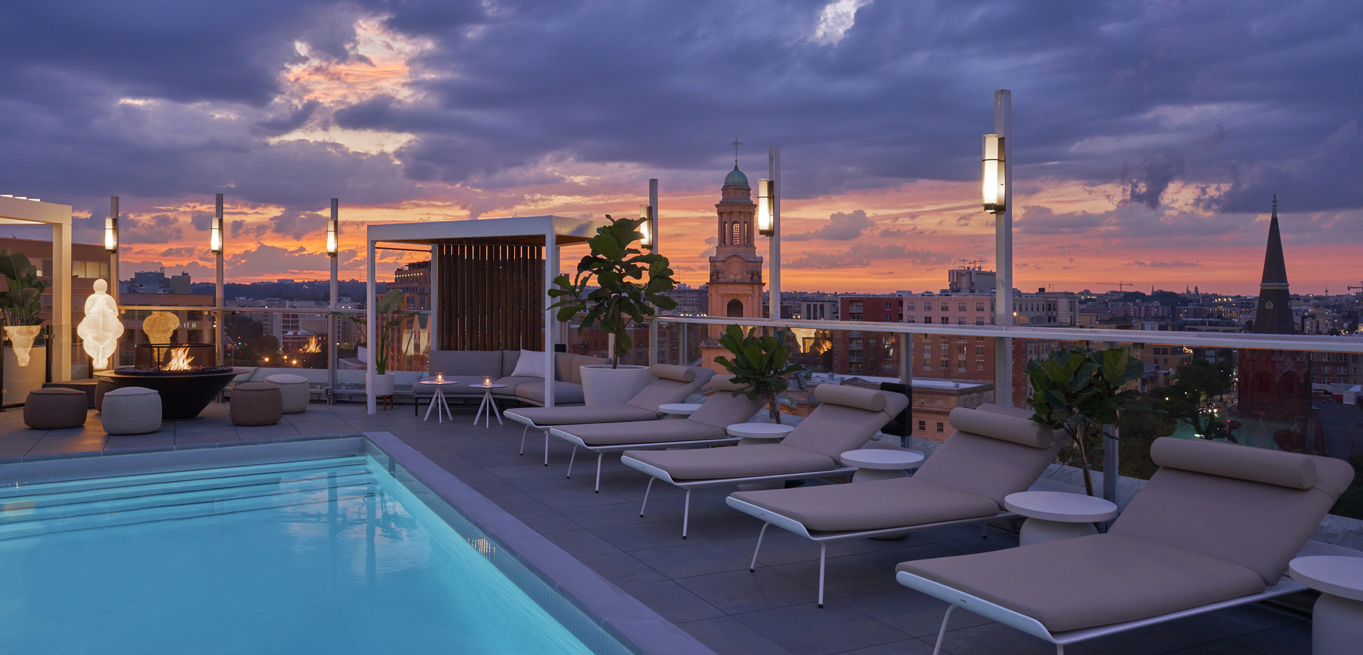 Hedy's Rooftop, Hotel Zena's upscale rooftop lounge, will be coming to in Spring 2021. Photo Credit: Mike Schwartz Photography