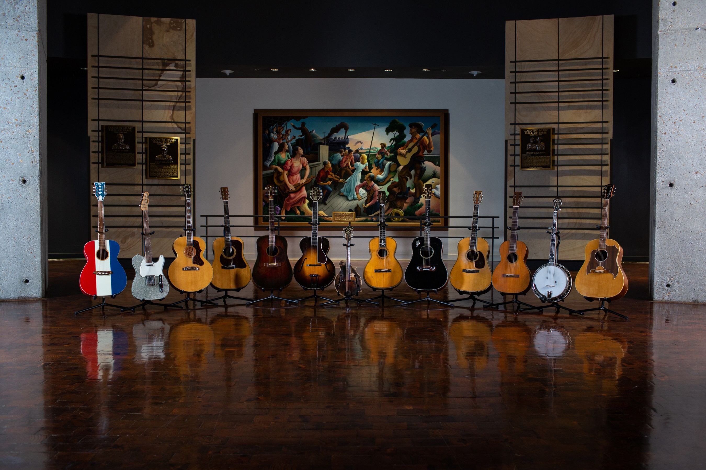 BIG NIGHT (At the Museum), a fundraising event for the Country Music Hall of Fame and Museum, pairs historic instruments with some of today's music masters. Photo by Bob Delevante for the Country Music Hall of Fame and Museum.