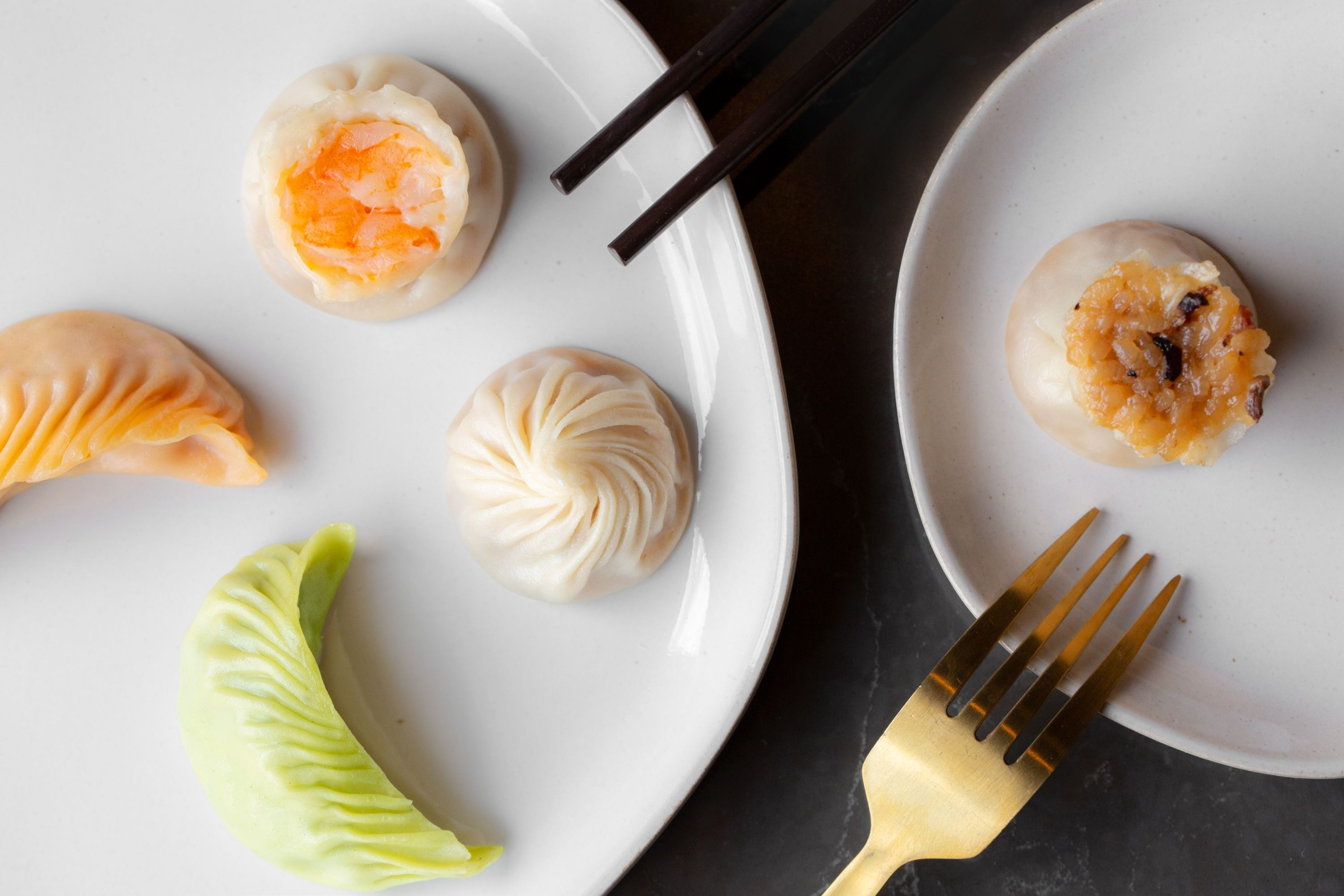 Din Tai Fung serves an assortment of handmade dumplings and dim sum including the meticulously crafted Kurobuta Pork Xiao Long Bao.