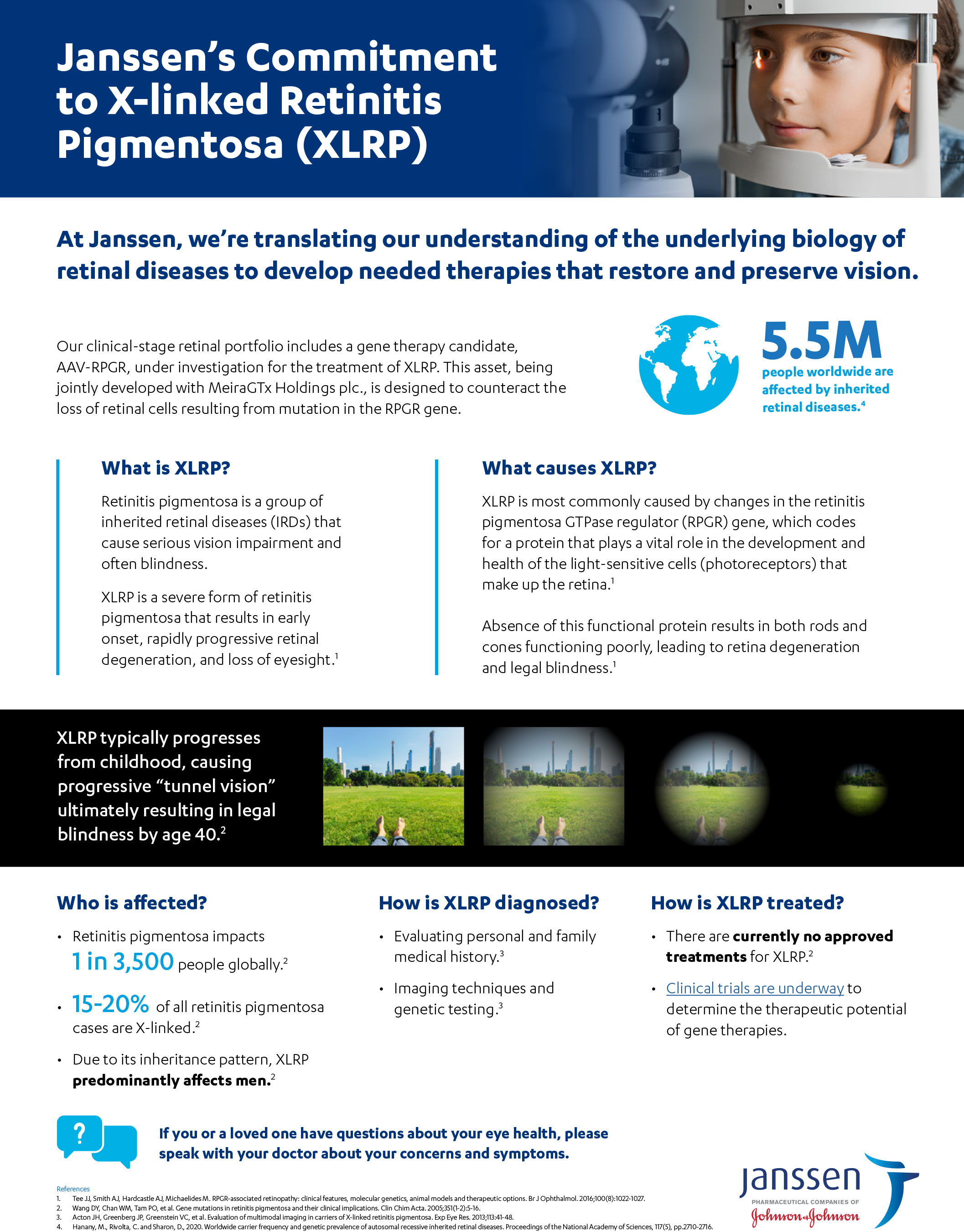 Janssen's Commitment to X-linked Retinitis Pigmentosa (XLRP) Fact Sheet