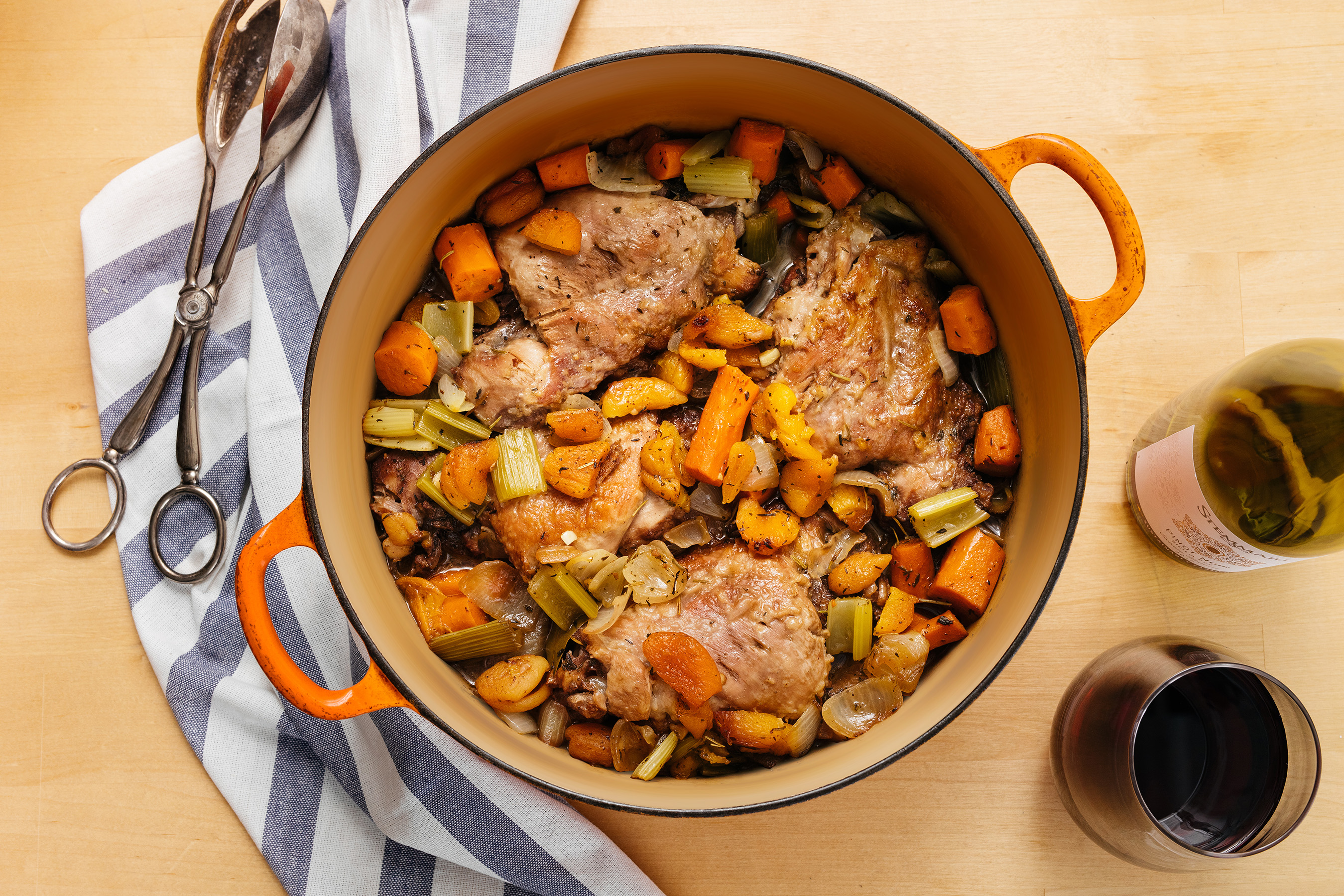 Try a twist on traditional Thanksgiving turkey with Burgundy Braised Turkey Thighs.