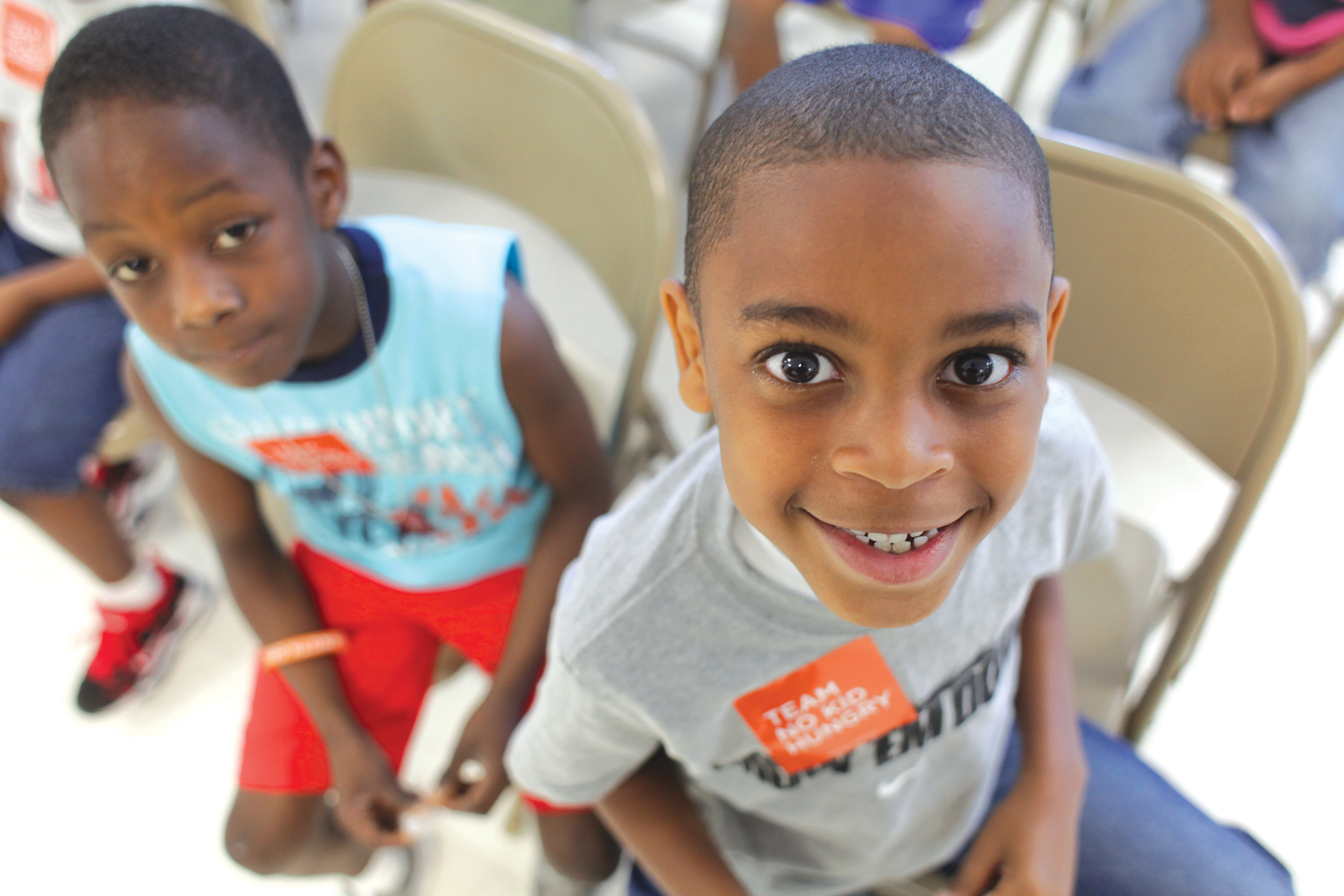 One and four kids in the U.S. could face hunger this year because of the coronavirus, which is why Bar Louie and No Kid Hungry are partnering to help kids like this in need.