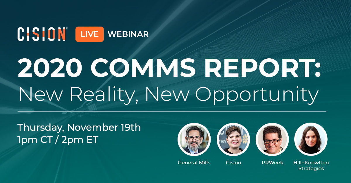 New Reality, New Opportunity Live Webinar on November 19th
