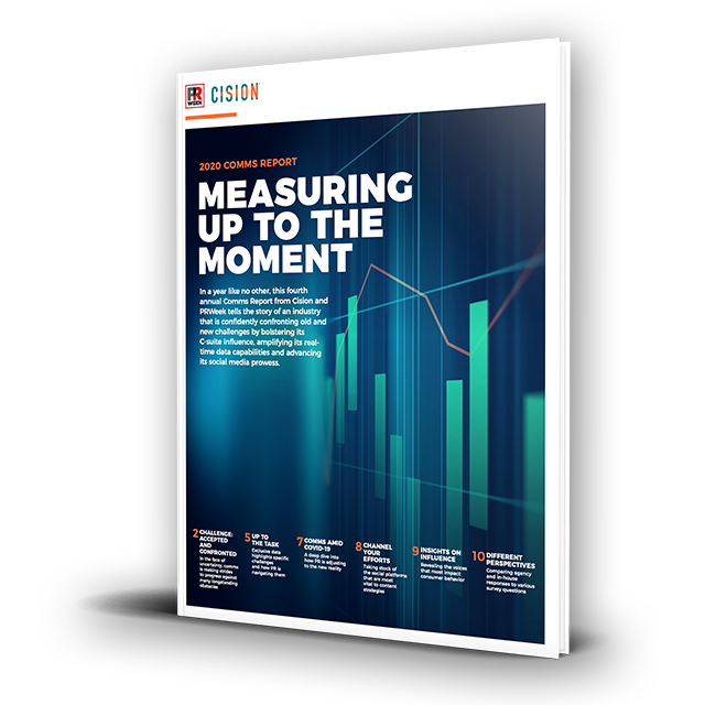 Cision and PRWeek publish the fourth annual Comms Report