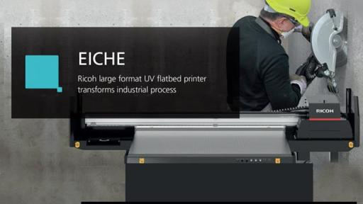 Ricoh large format UV flatbed printer transforms industrial process