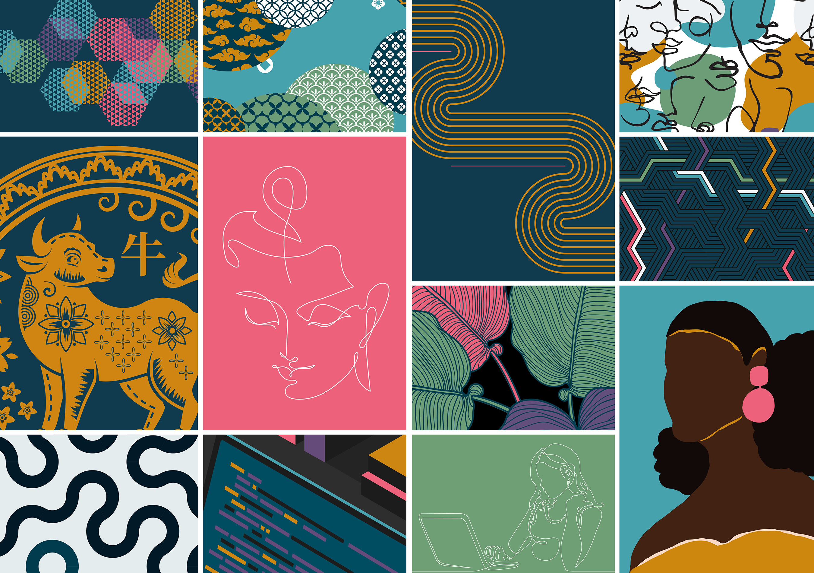 Illustrations: Modern, bright and accessible