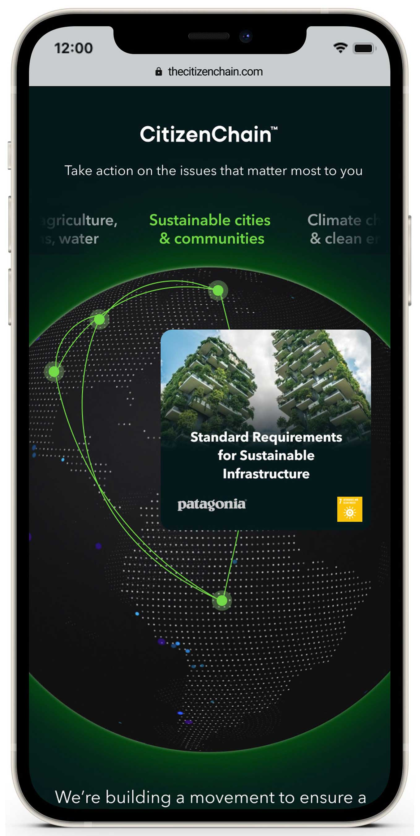 USCS CitizenChain™ is a new digital platform that gives people the opportunity to lend their voice to support the brands and organizations within the SustainChain community on the sustainability issues they care most about.