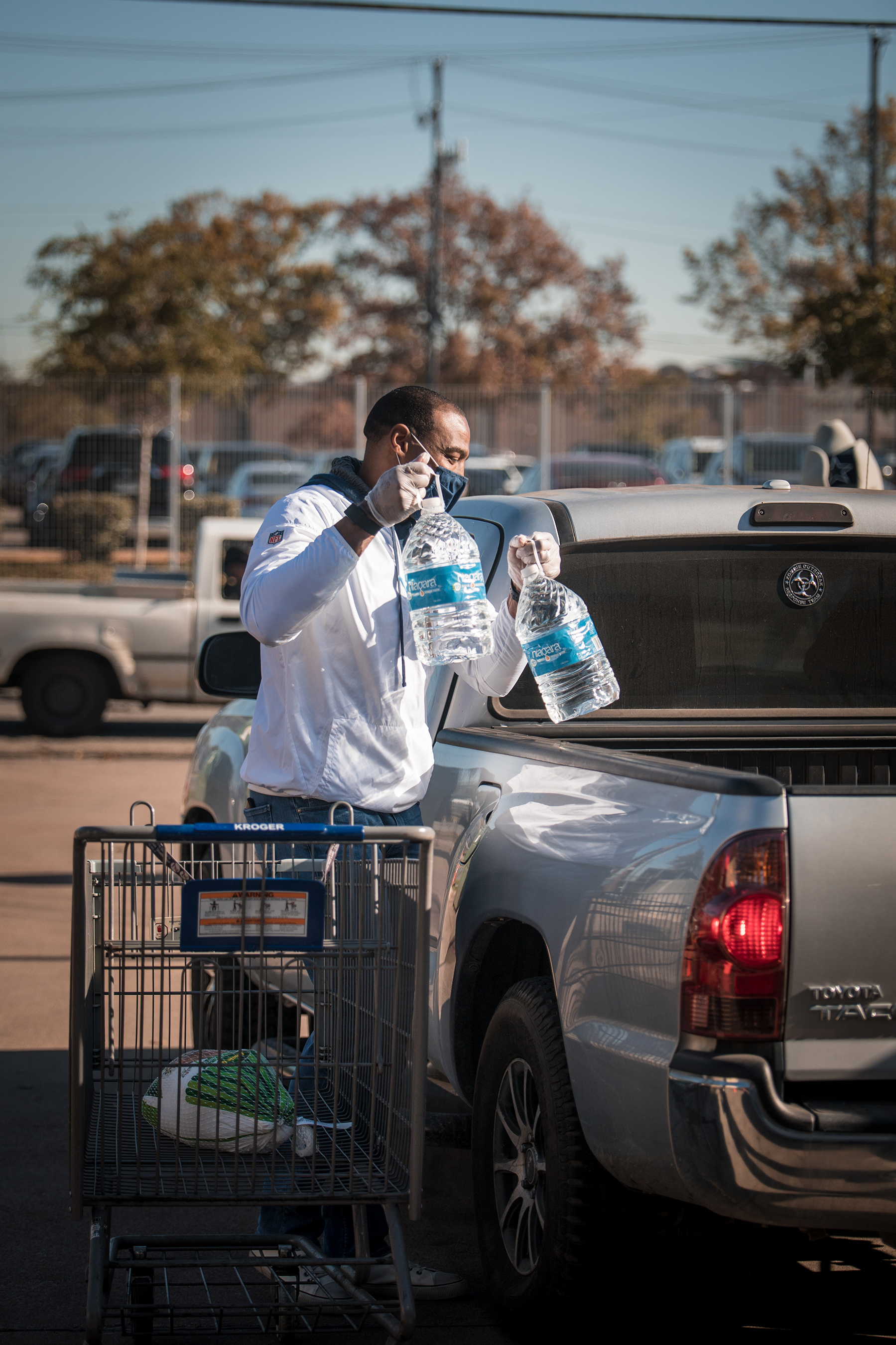 The Salvation Army and the Dallas Cowboys have been partners for 24 years - Darren Woodson served at Carr P. Collins Drive-Through Thanksgiving Meal Distribution on Nov. 17.