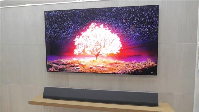 LG G1 OLED TV B-roll