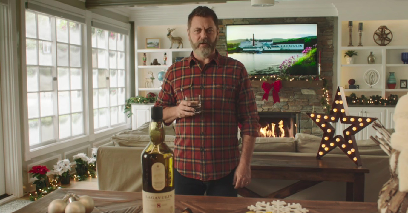 Nick Offerman and Lagavulin Single Malt Scotch Whisky Are Having a Dram Good Holiday at Home
