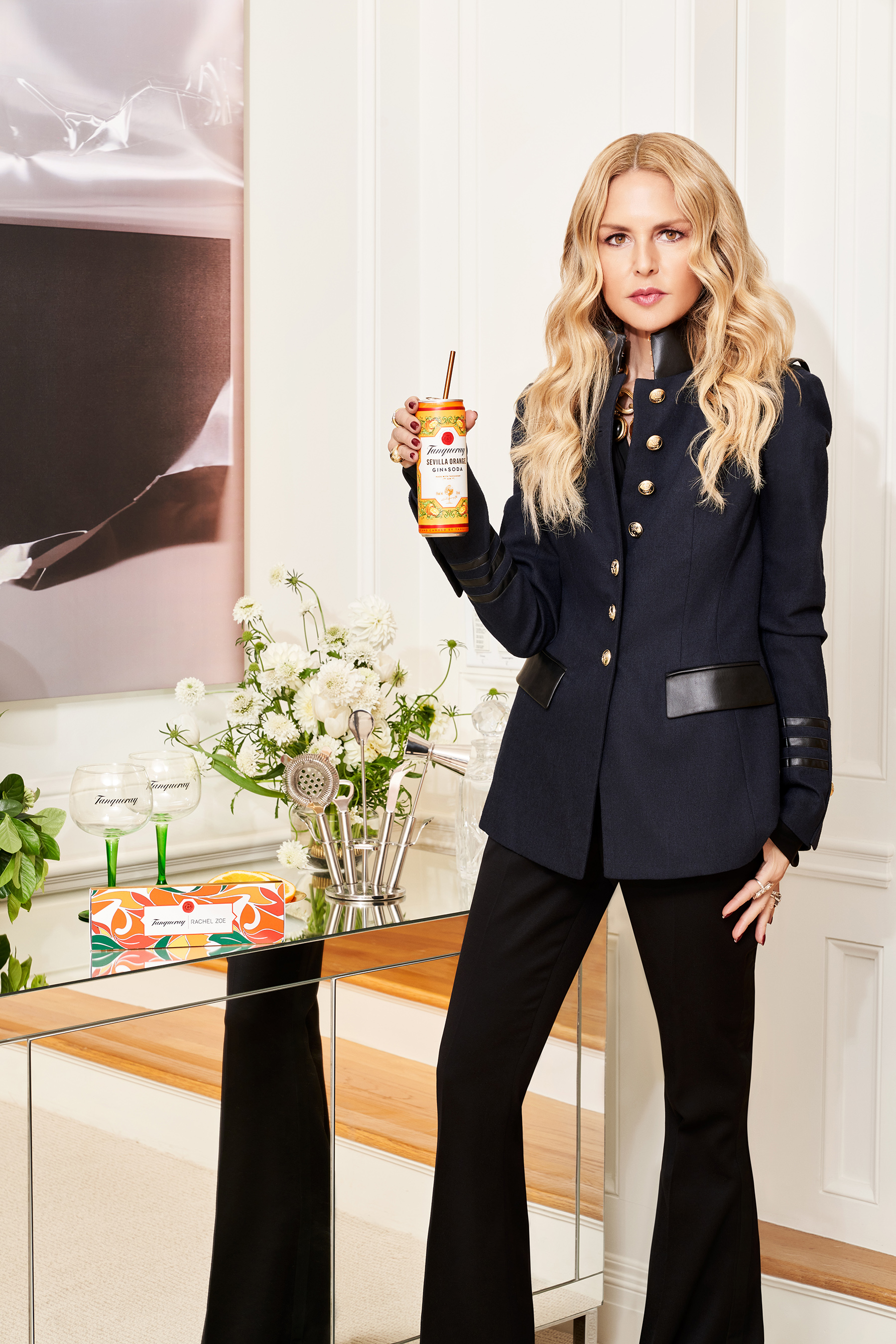 Tanqueray teamed up with Rachel Zoe to create a chic and reusable straw capsule collection as the perfect pairing for its newest offering, Tanqueray Crafted Gin Cocktails in a Can.