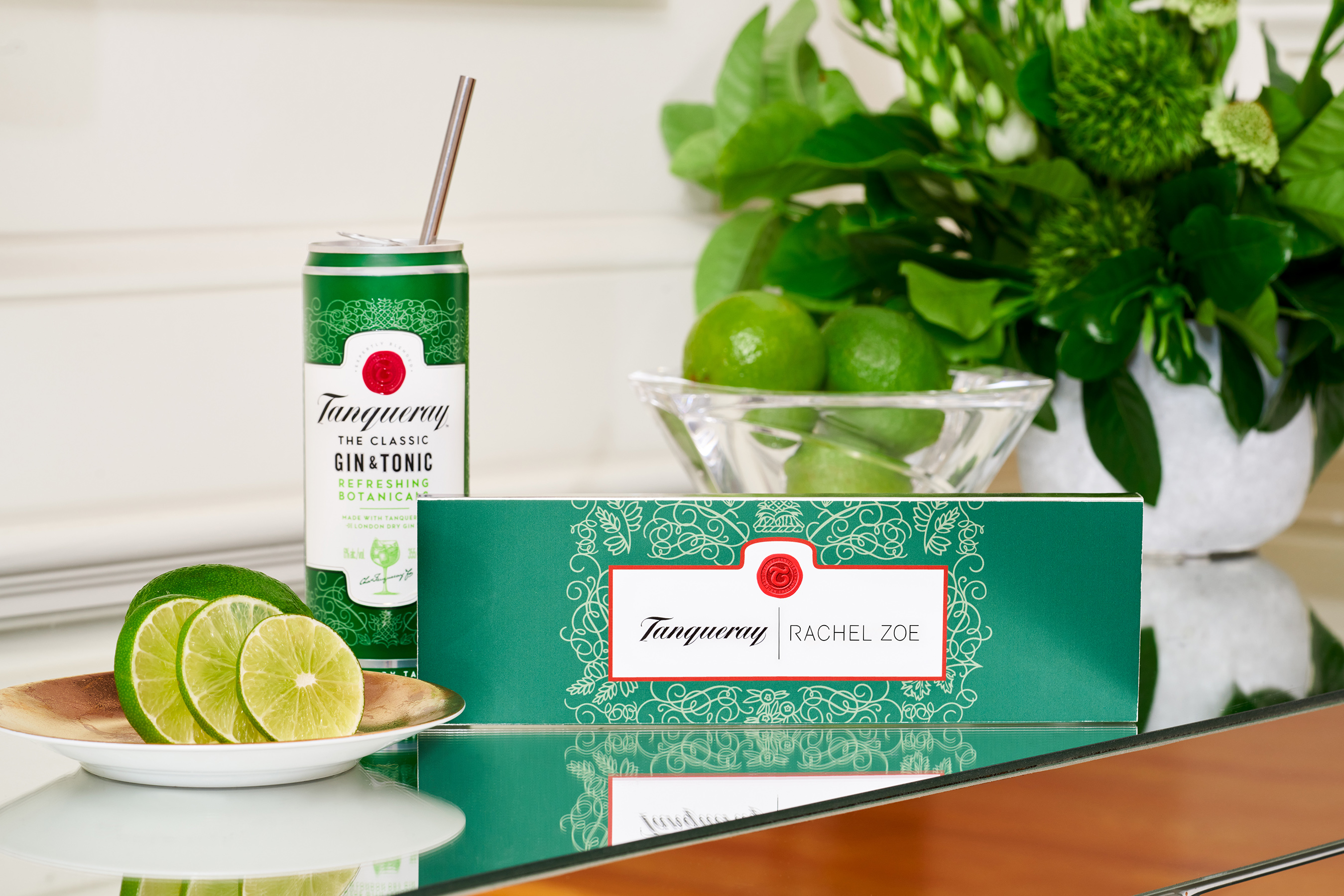 Tanqueray Gin & Tonic with the Rachel Zoe x Tanqueray Straw Capsule Collection