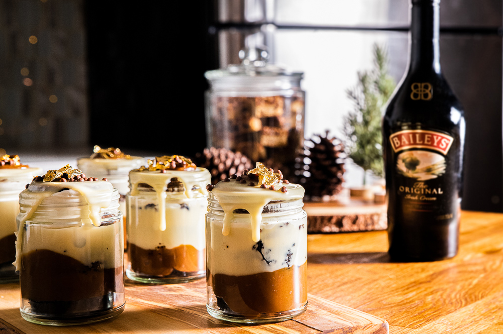 Stout & Baileys Cake Jars by Blondery