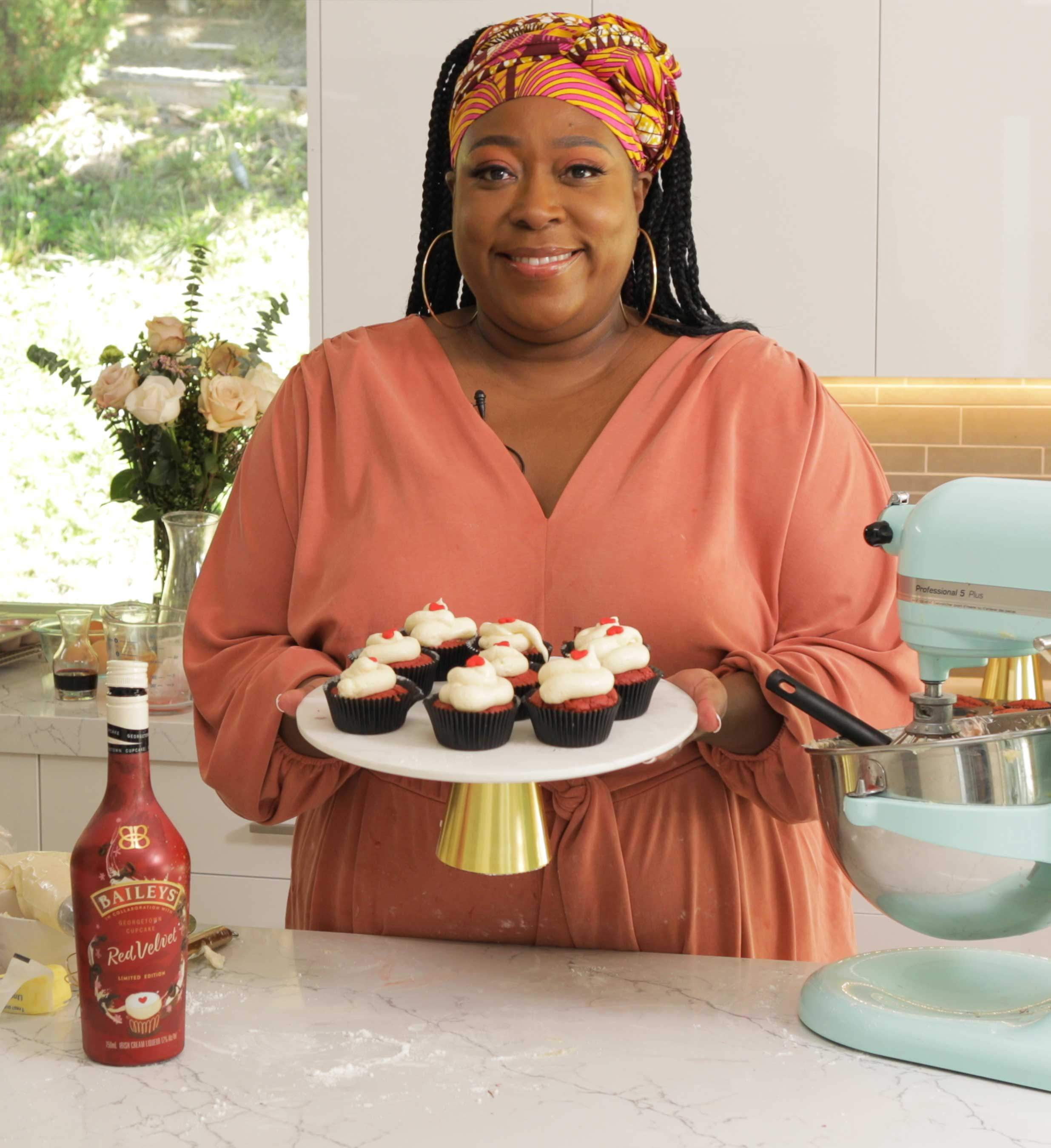 Loni Love Shows Off Her Homemade Baileys Red Velvet Cupcakes