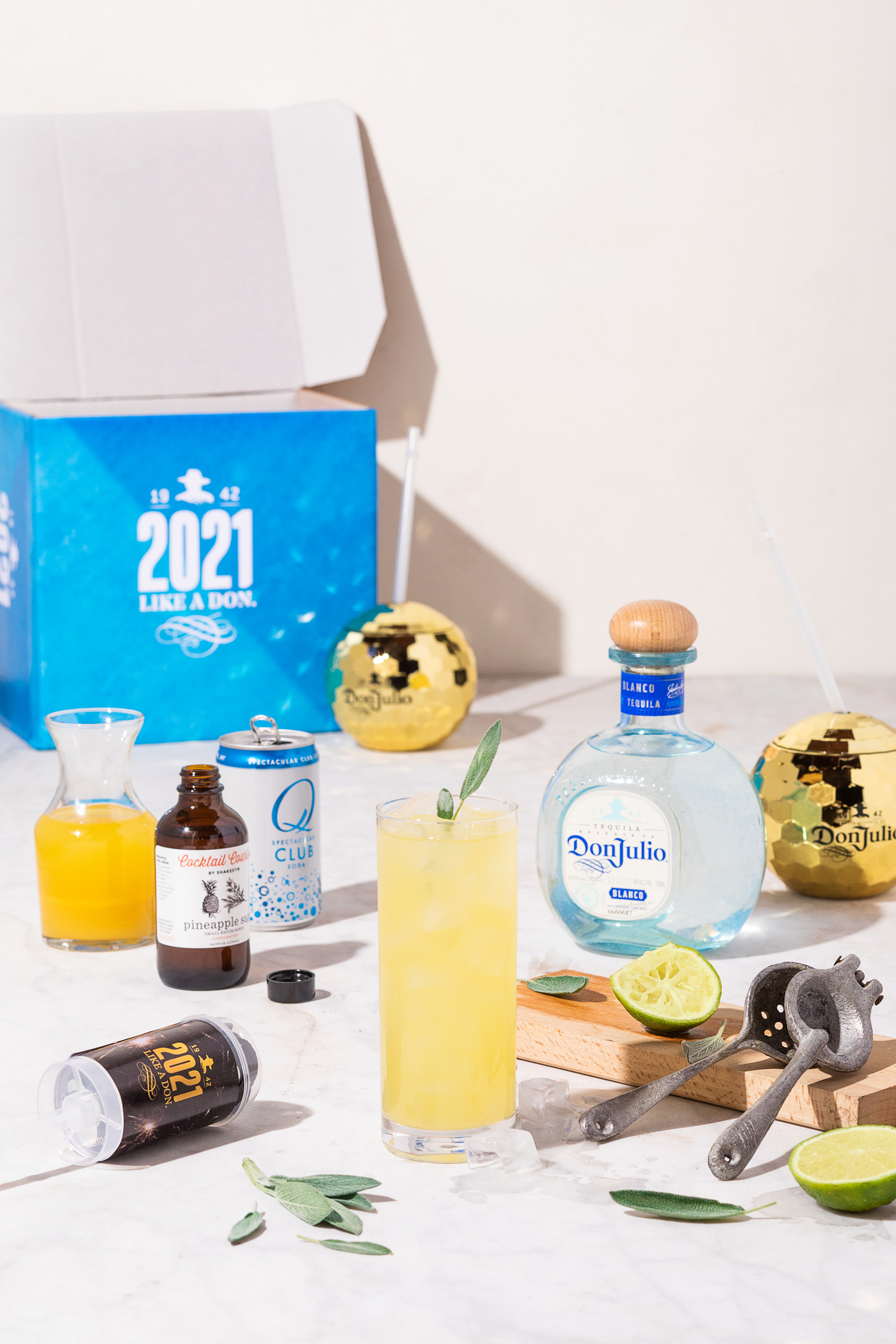 Celebrate New Year's Eve with the Tequila Don Julio NYE Curated Cocktail Kit available on Cocktail Courier to help elevate your cocktail game so that you can Ring in 2021 Like a Don.