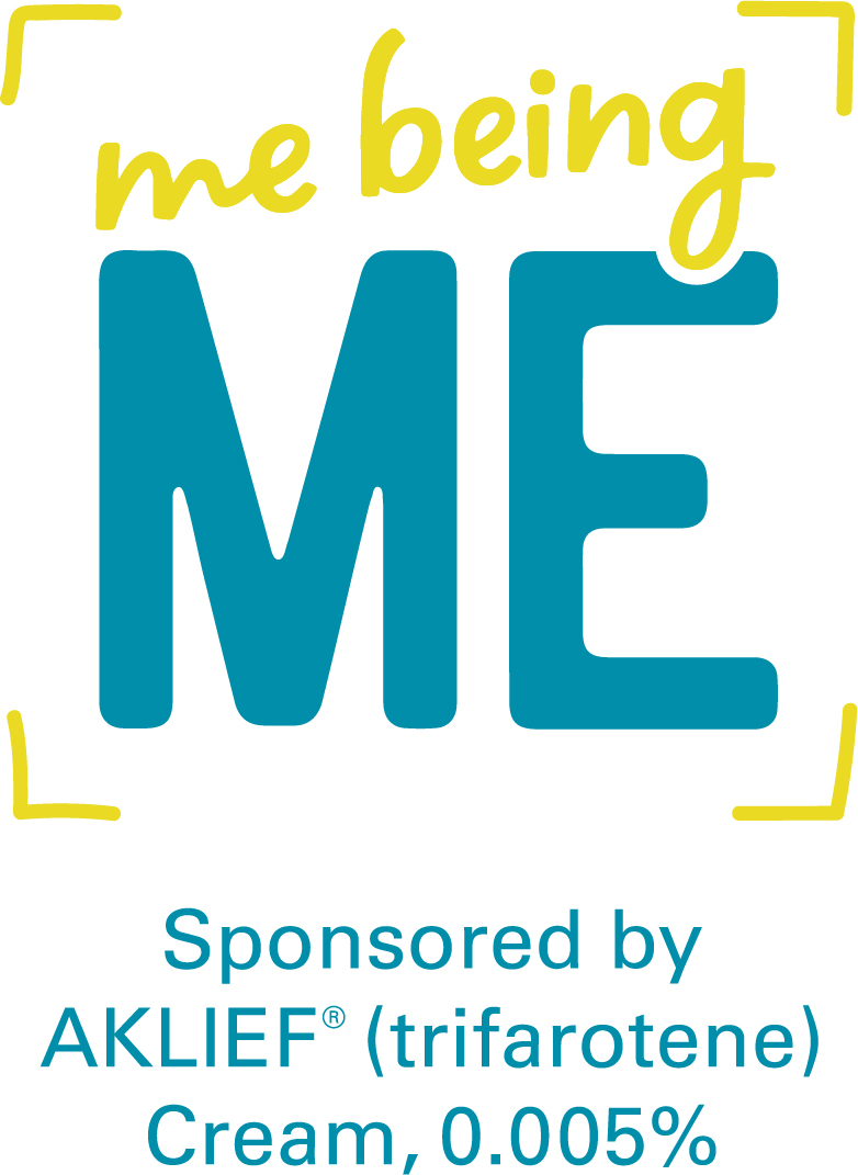 "AKLIEF Cream ""Me Being Me"" Logo"