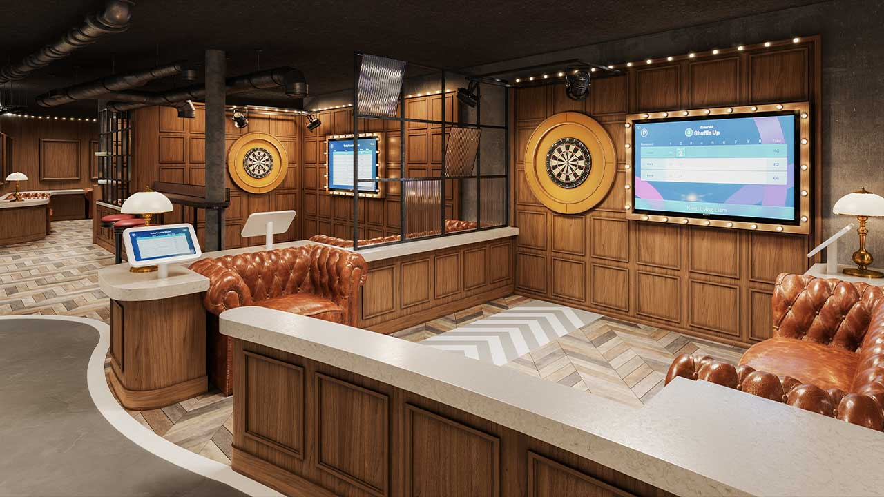 Norwegian Prima will be the first ship in the Norwegian Cruise Line fleet to feature The Bull's Eye, offering guests of all ages an upscale and digital twist on the classic game of darts, when she debuts in August 2022.