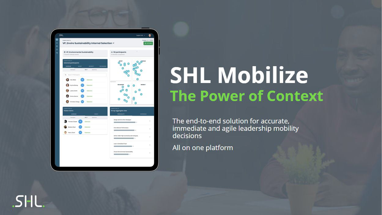 SHL's Mobilize Transforms Talent Mobility Forever with the Power...
