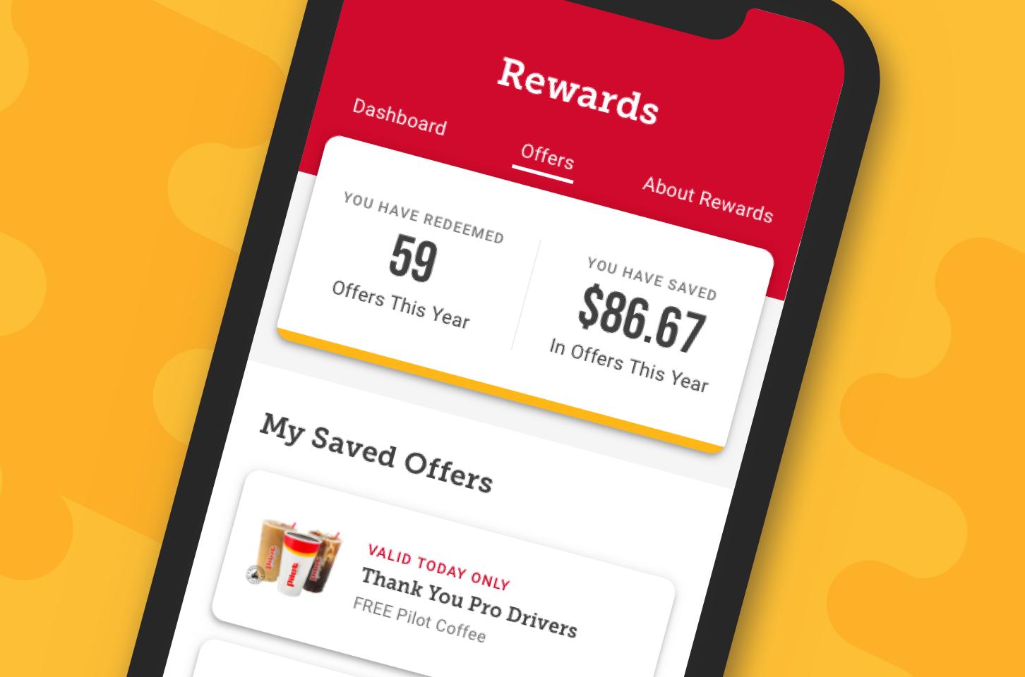 Big rig drivers deserve big rewards. The myRewards Plus™ app is delivering the goods with more rewards, free drinks and bonus points all September for Driver Appreciation month.