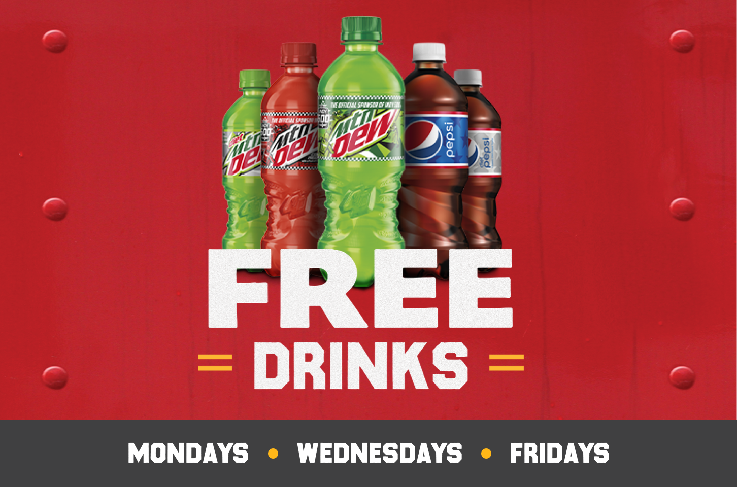 As a thank you, pro truck drivers can get free drinks all September on Mondays, Wednesdays and Fridays at participating Pilot Flying J Travel Centers with the myRewards Plus™ app.