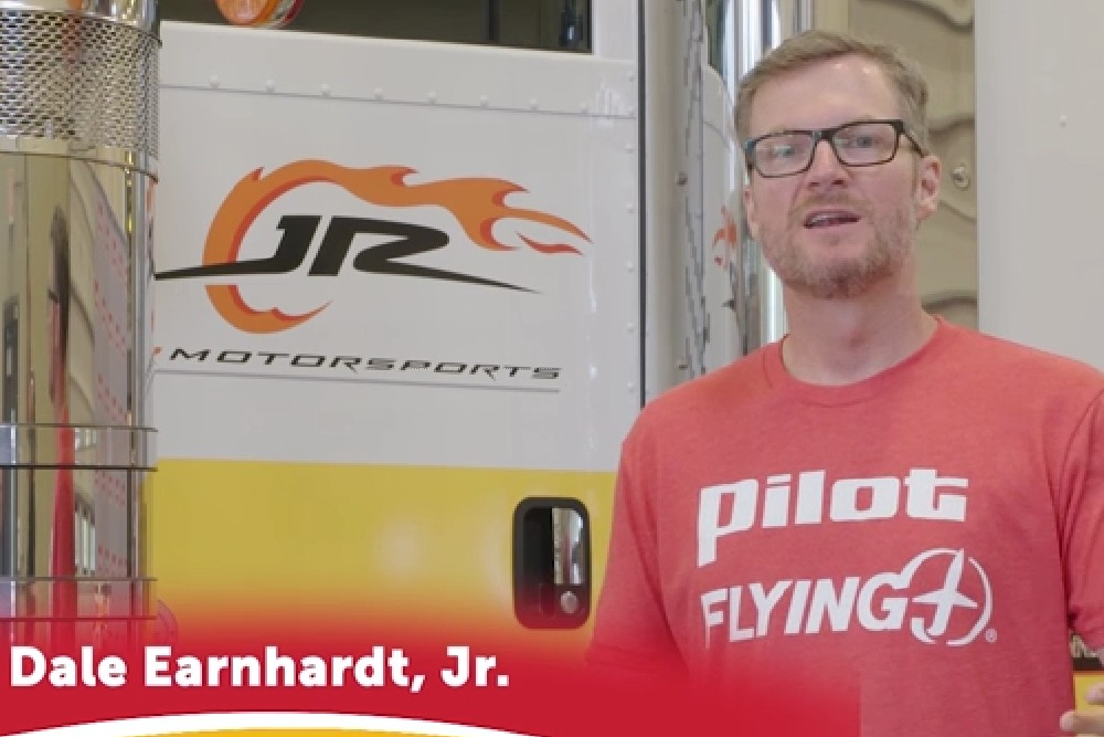 """Pilot Flying J and Dale Earnhardt Jr. are kicking off September's Driver Appreciation month with the """"Trucker Salute"""" challenge as a thank you to pro truck drivers for keeping America moving."""