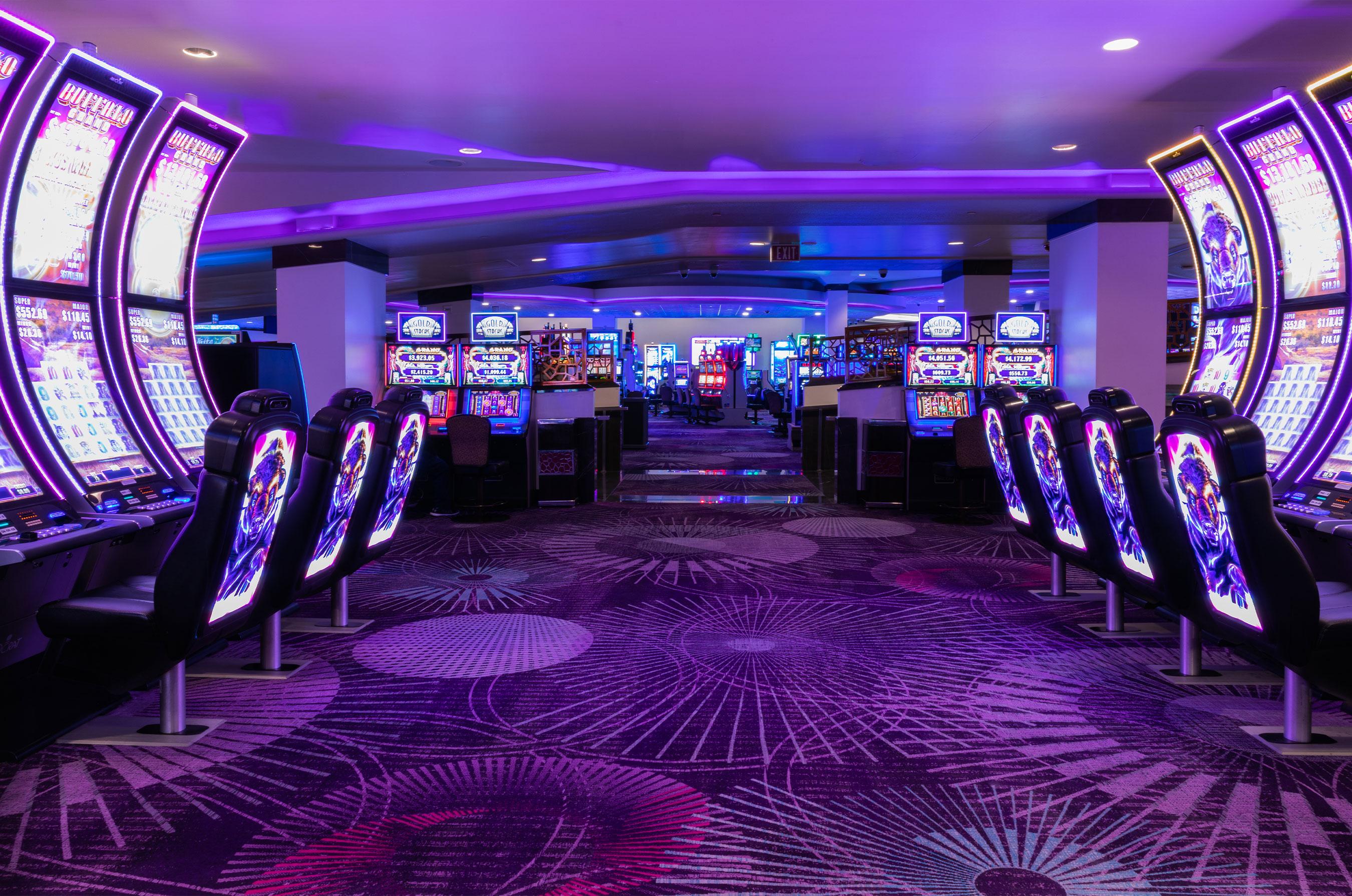 Redesigned Casino Floor at Harrah's Las Vegas (Credit: Palm + Ocean Digital)