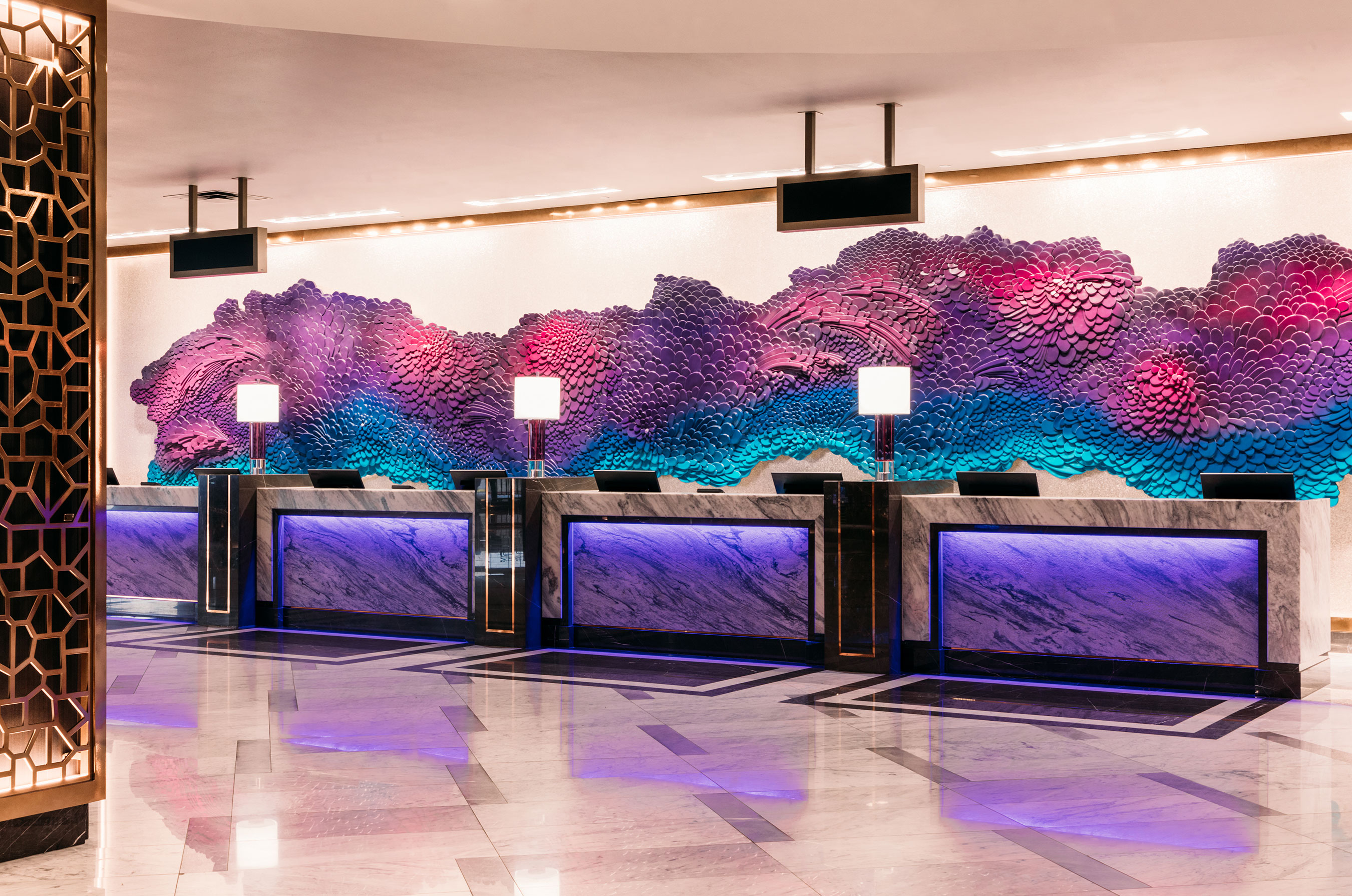Redesigned Hotel Lobby at Harrah's Las Vegas (Credit: Palm + Ocean Digital)