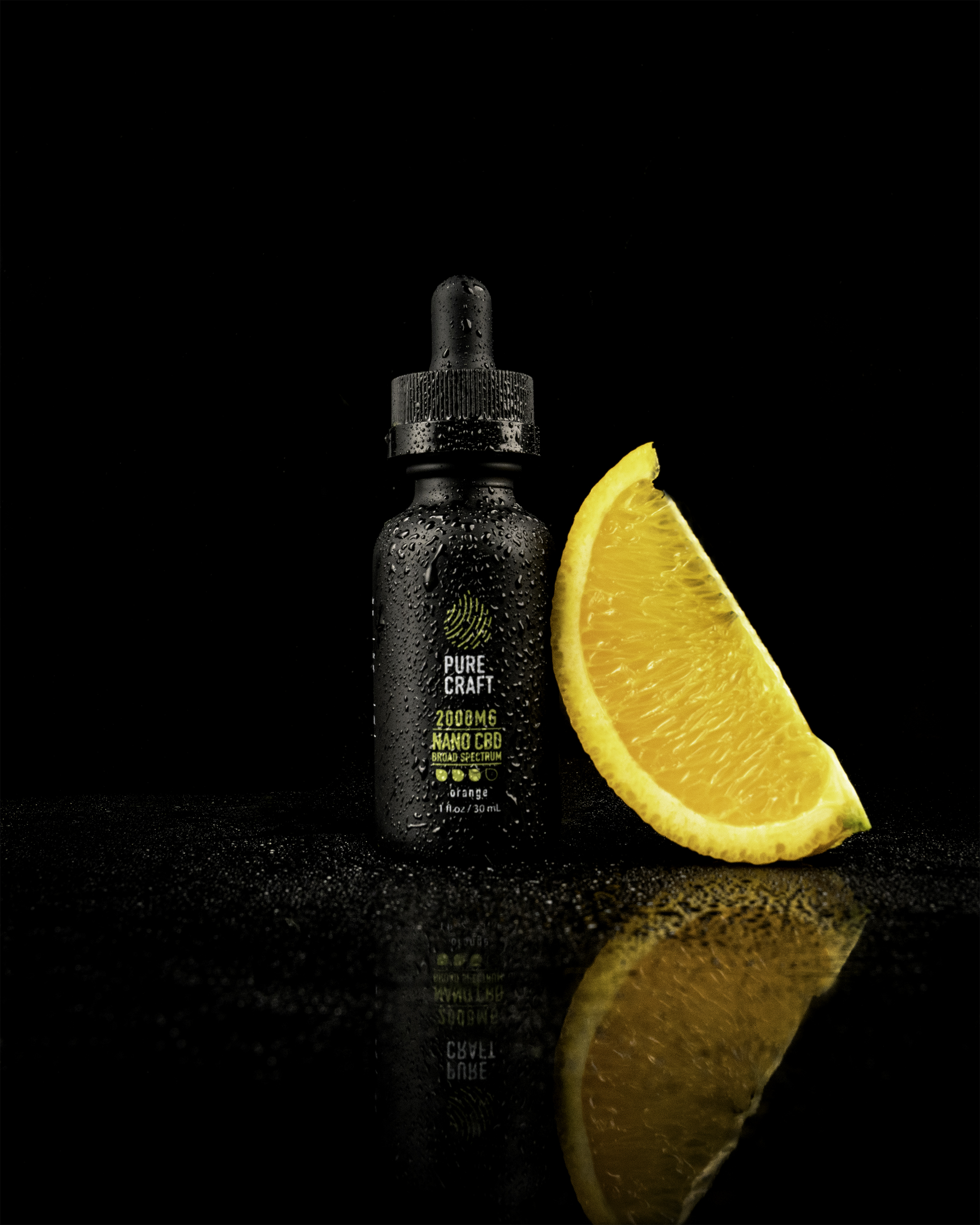 """Pure Craft 2,000 mg nano CBD broad spectrum. """"Your day just got a whole lot easier."""""""