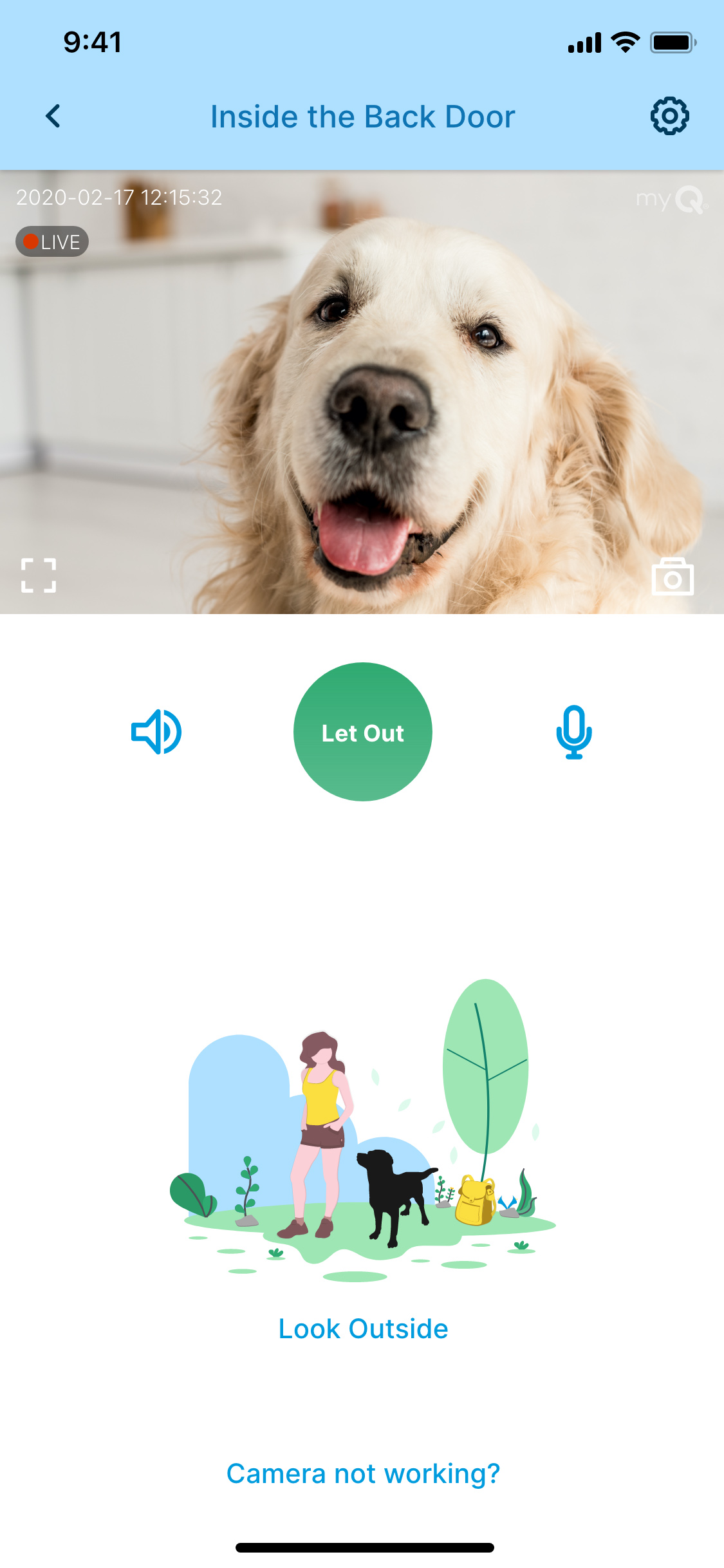 Live video streaming and 2-way communication through the myQ Pet Portal app lets you stay connected to your pet.