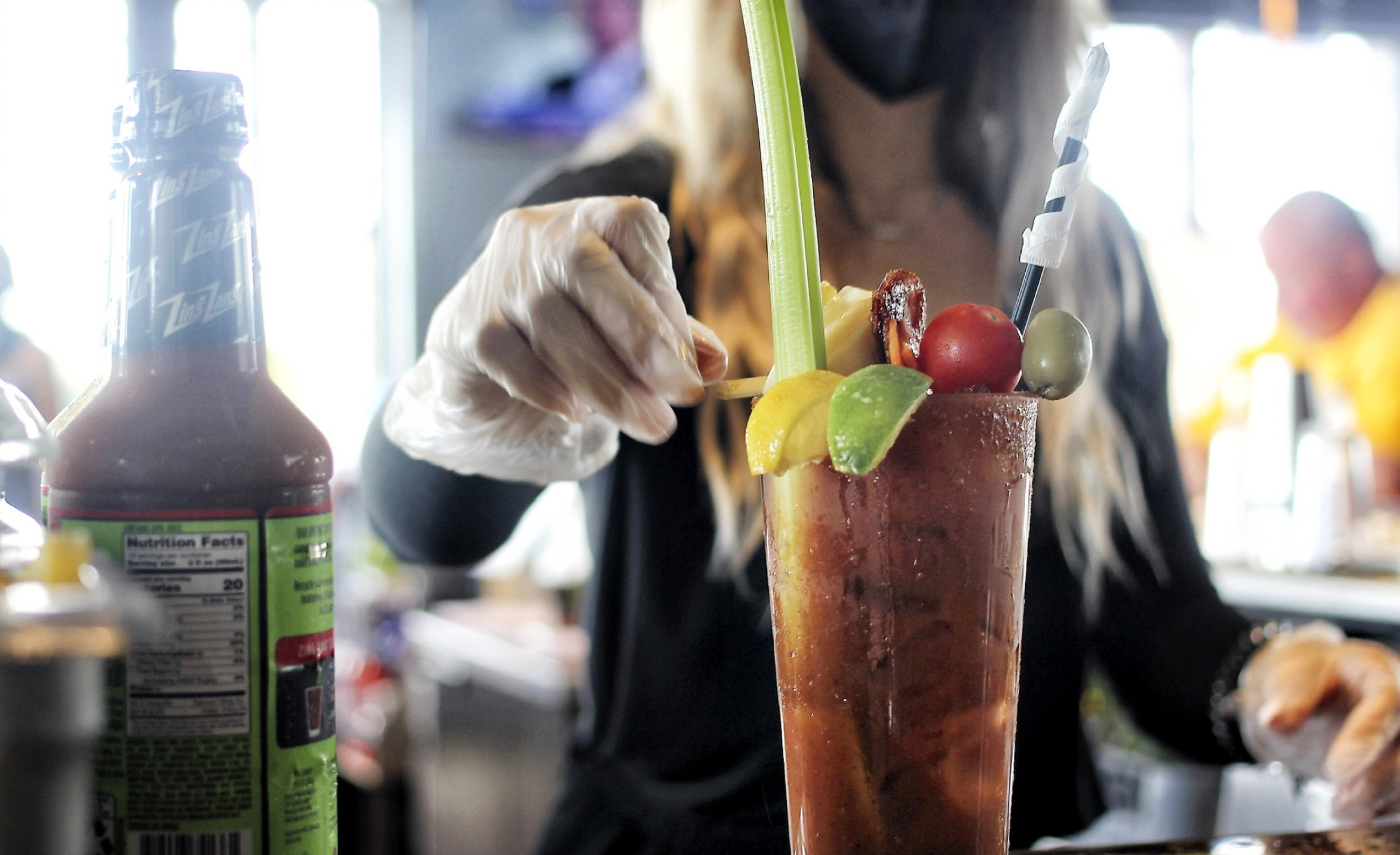 Bartenders at Bar Louie's newest location, Bar Louie Granger, know how to build the perfect Bloody Mary for their new Brunch menu.