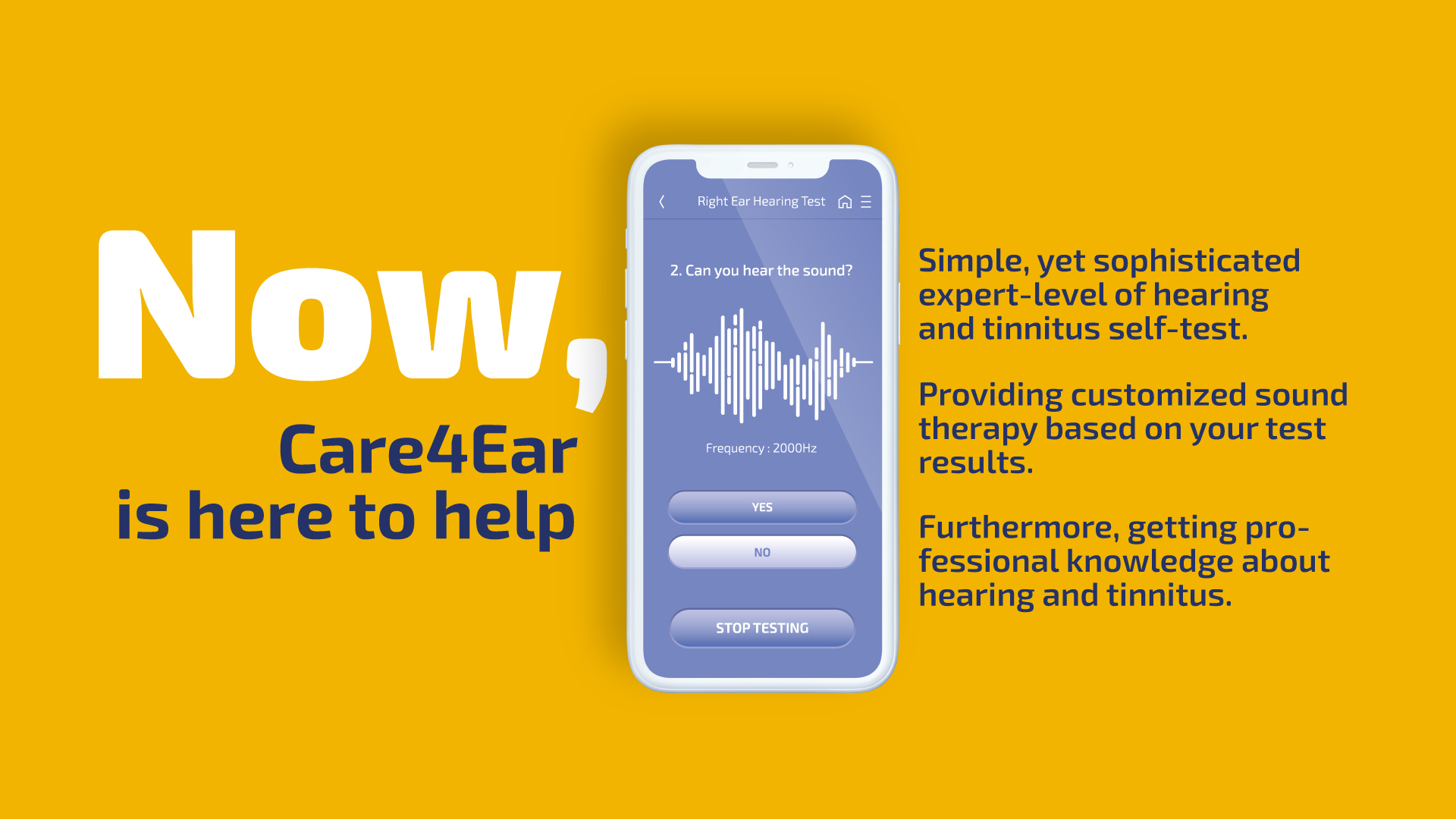 If you suspect yourself you may have tinnitus, care your ear with CARE4EAR